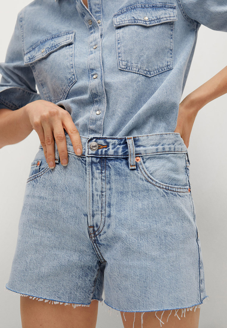 Женские джинсовые шорты Mango (Манго) Шорты джинсовые Mango