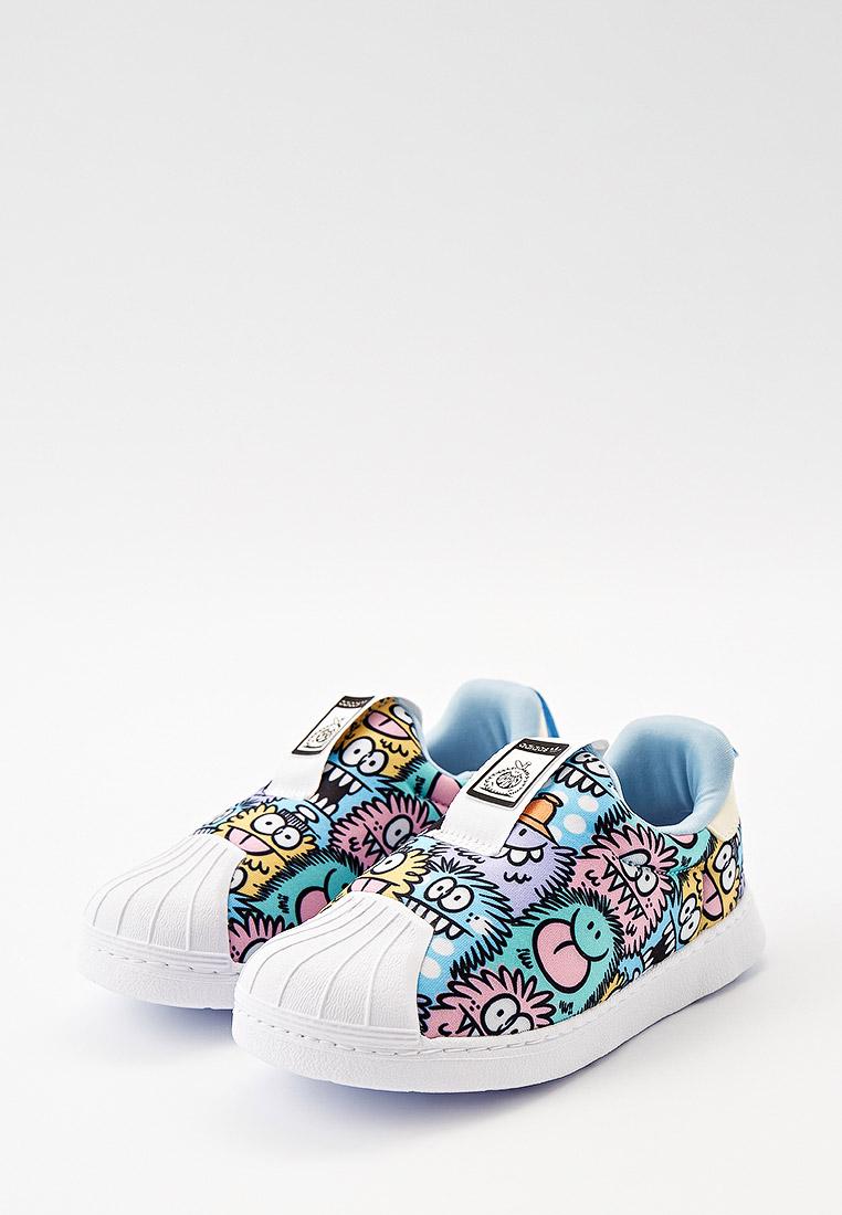 Мокасины для мальчиков Adidas Originals (Адидас Ориджиналс) H02738: изображение 2