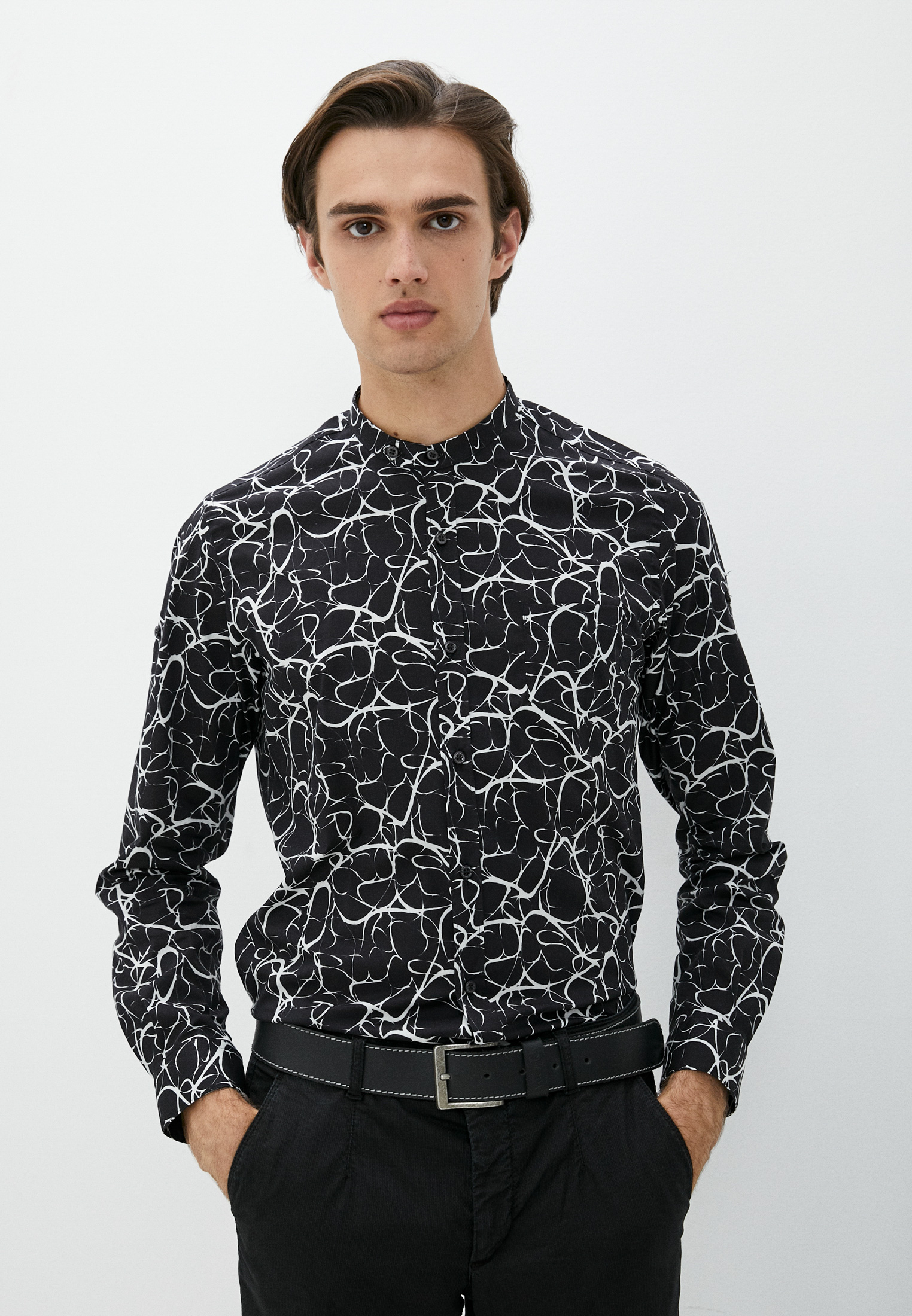 Рубашка с длинным рукавом Alessandro Dell`acqua Рубашка Alessandro Dell'Acqua