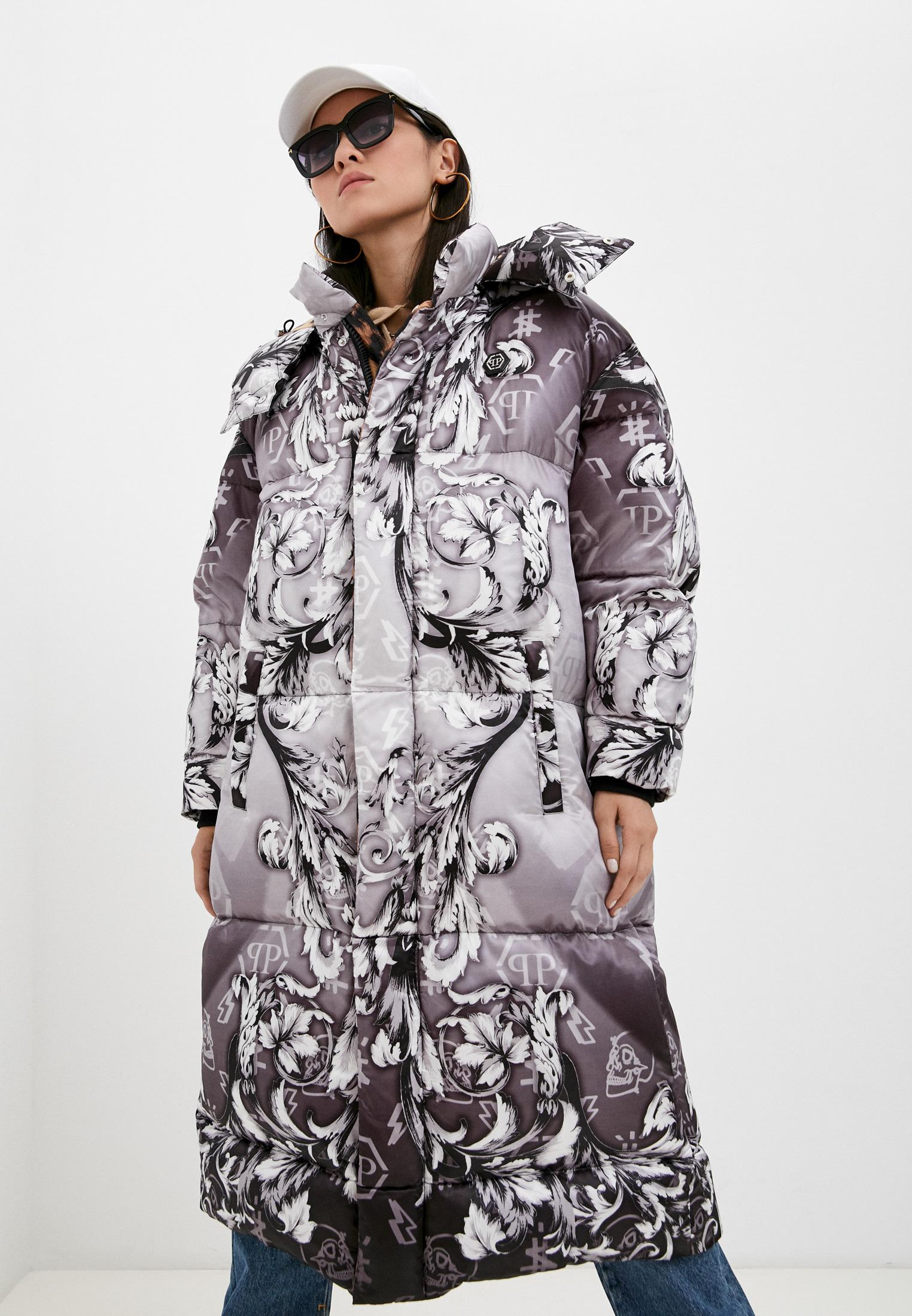 Утепленная куртка Philipp Plein Пуховик Philipp Plein