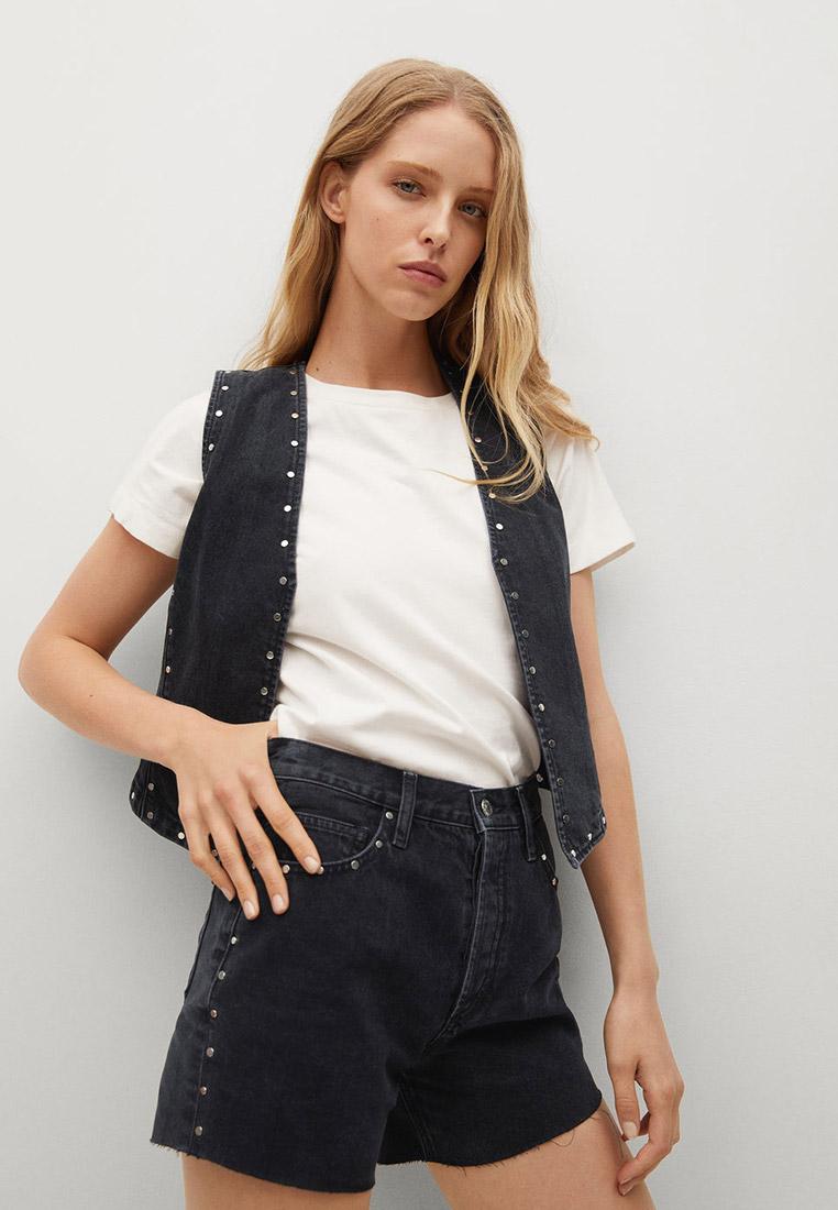 Женские джинсовые шорты Mango (Манго) Джинсовые шорты с заклепками - Paty