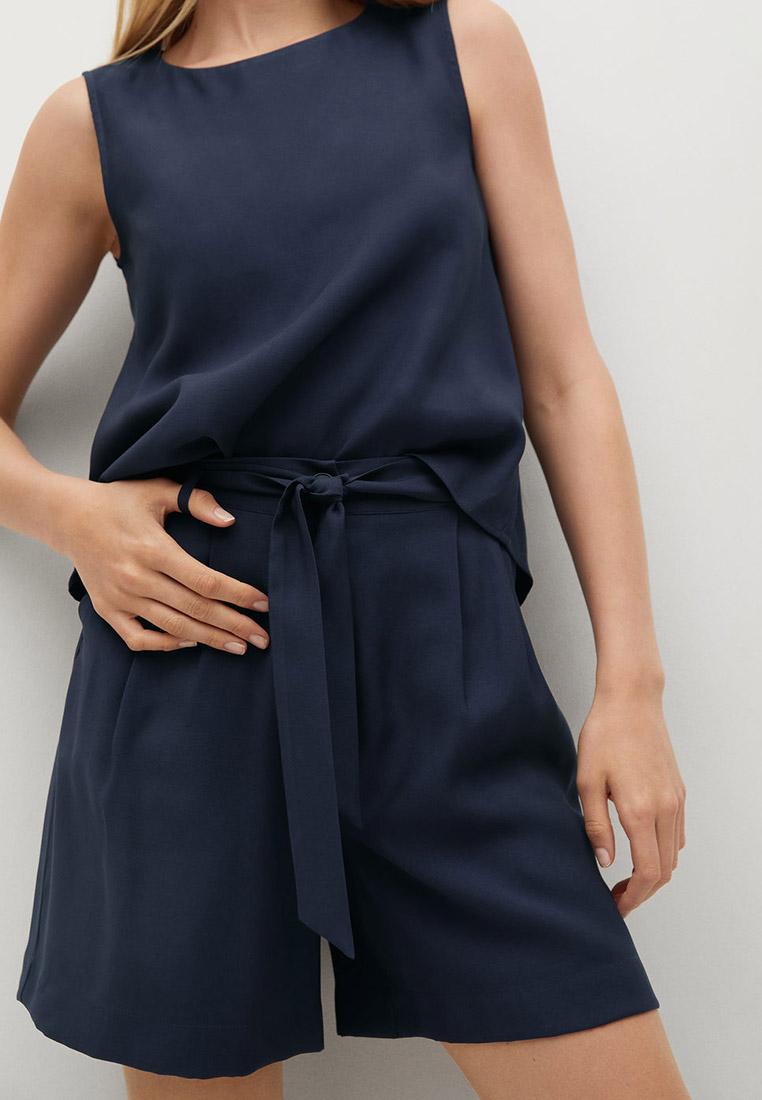 Женские повседневные шорты Mango (Манго) Струящиеся шорты с защипами - Bye-h