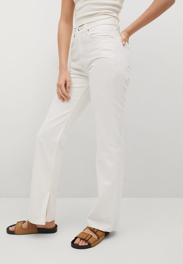 Прямые джинсы Mango (Манго) Джинсы straight с разрезом - Miranda