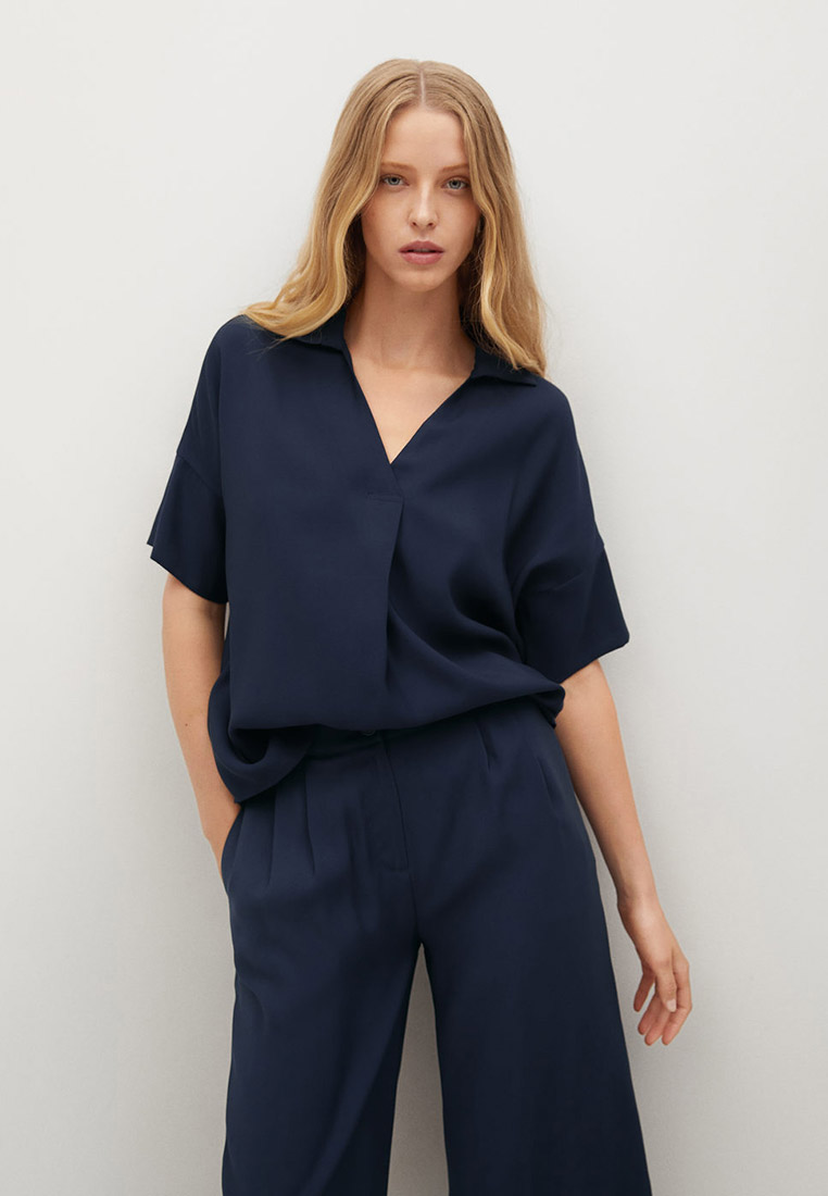 Блуза Mango (Манго) Объемная струящаяся блузка - Bye-h