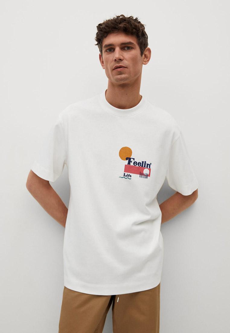 Футболка с коротким рукавом Mango Man 17011076