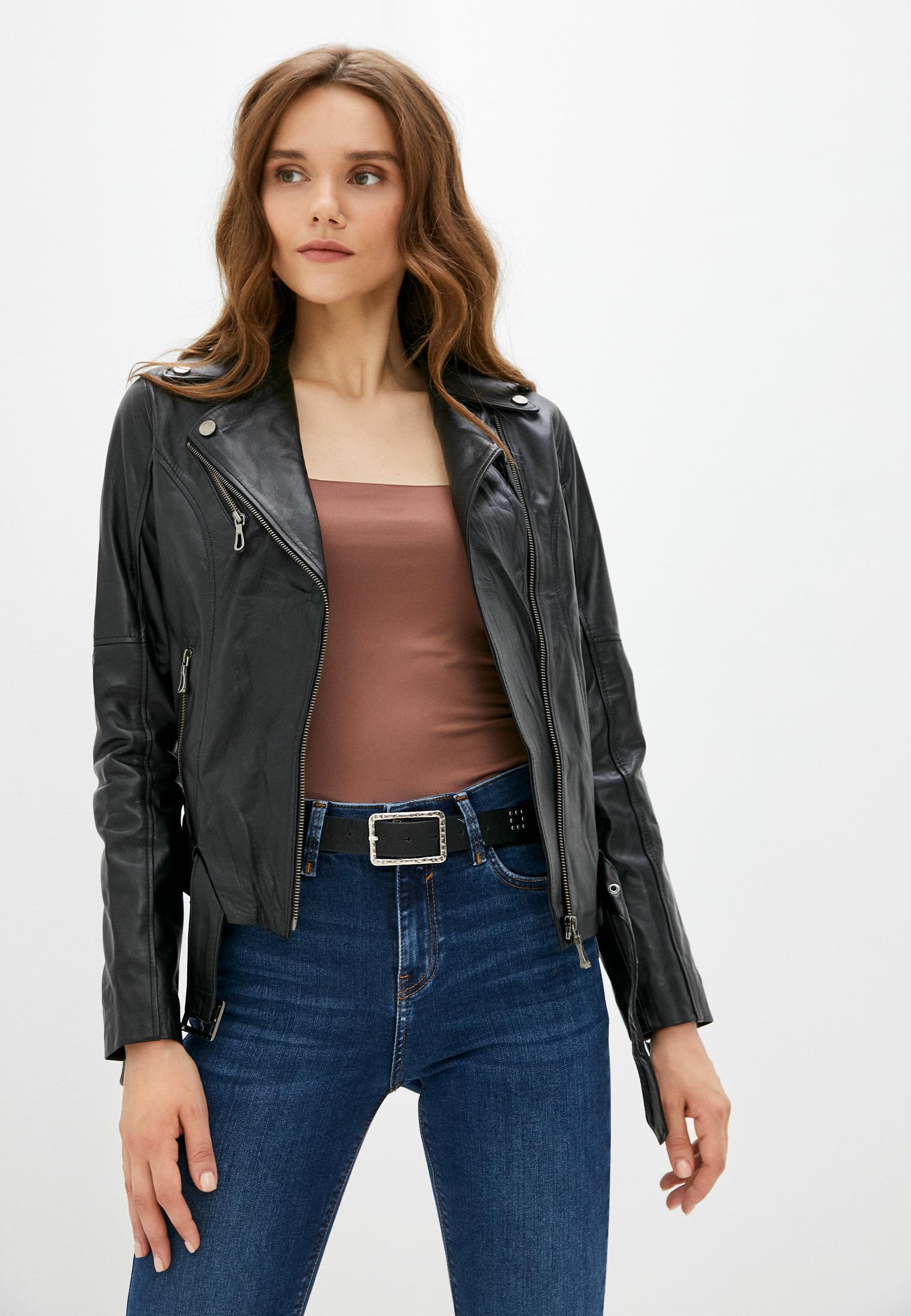 Кожаная куртка Basics & More Куртка кожаная Basics & More