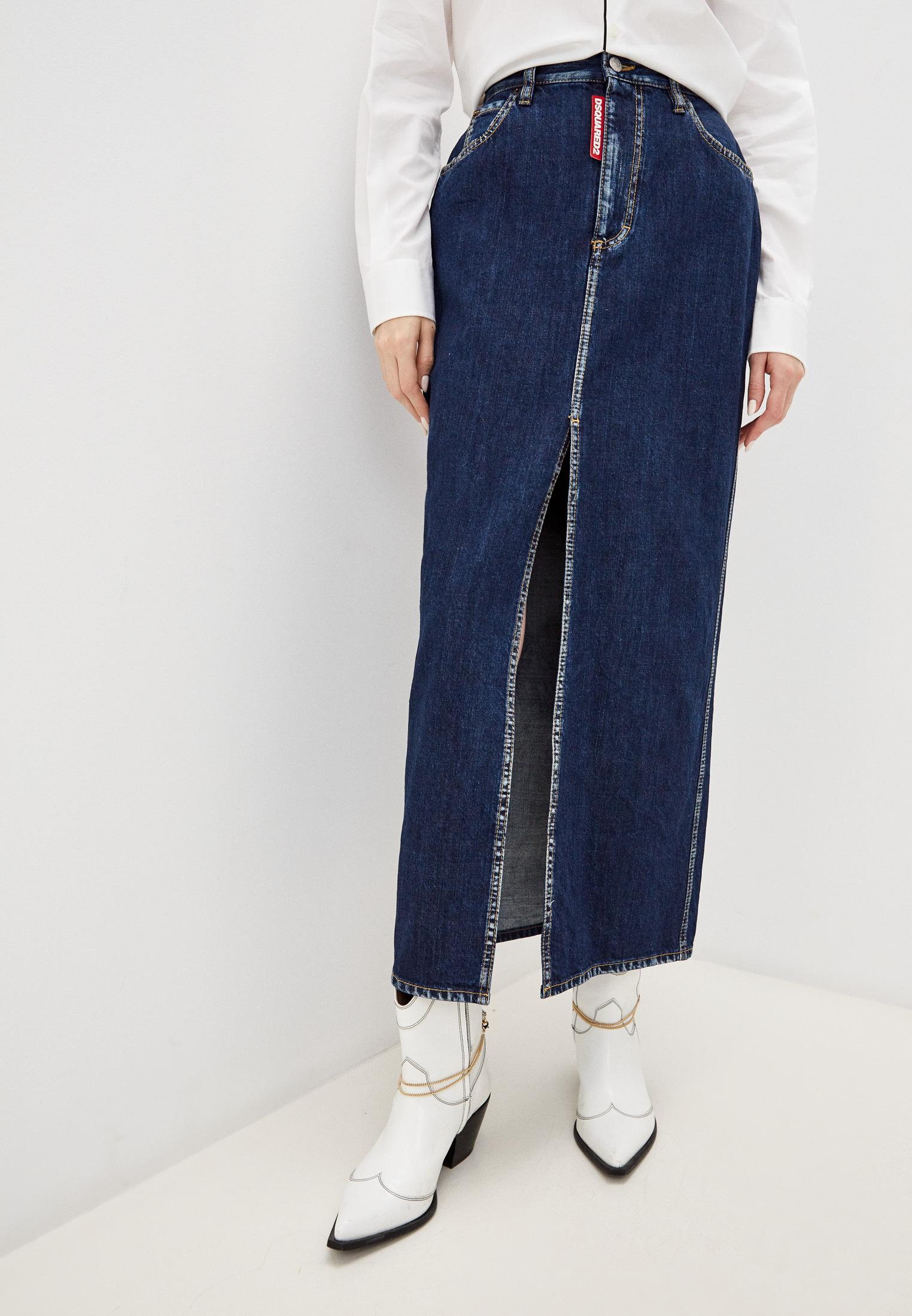 Джинсовая юбка Dsquared2 Юбка джинсовая Dsquared2