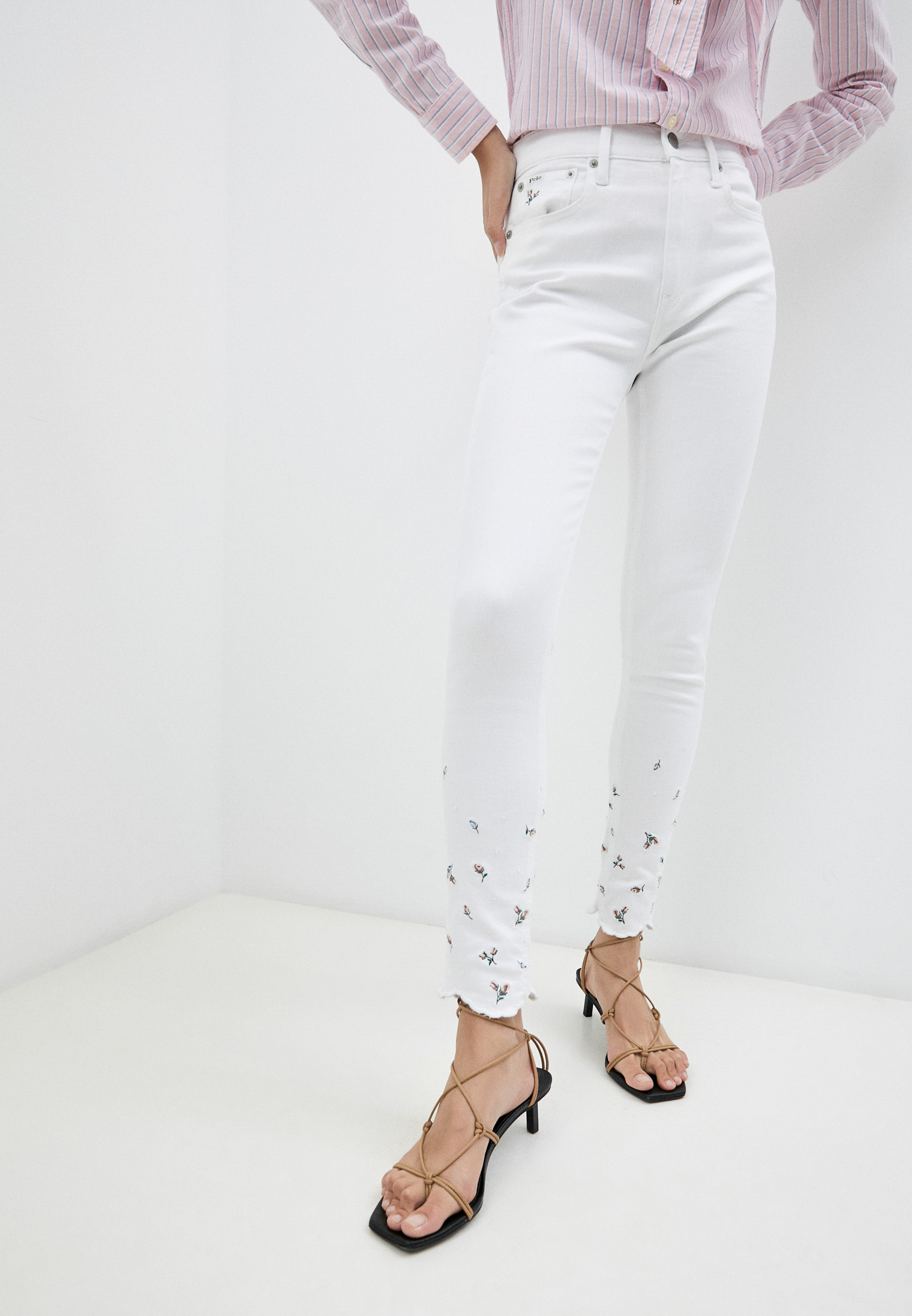 Зауженные джинсы Polo Ralph Lauren (Поло Ральф Лорен) 211834018001