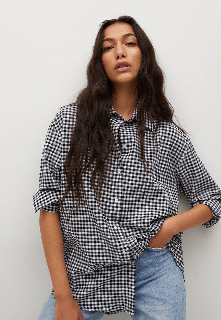 Женские рубашки с длинным рукавом Mango (Манго) 17032026