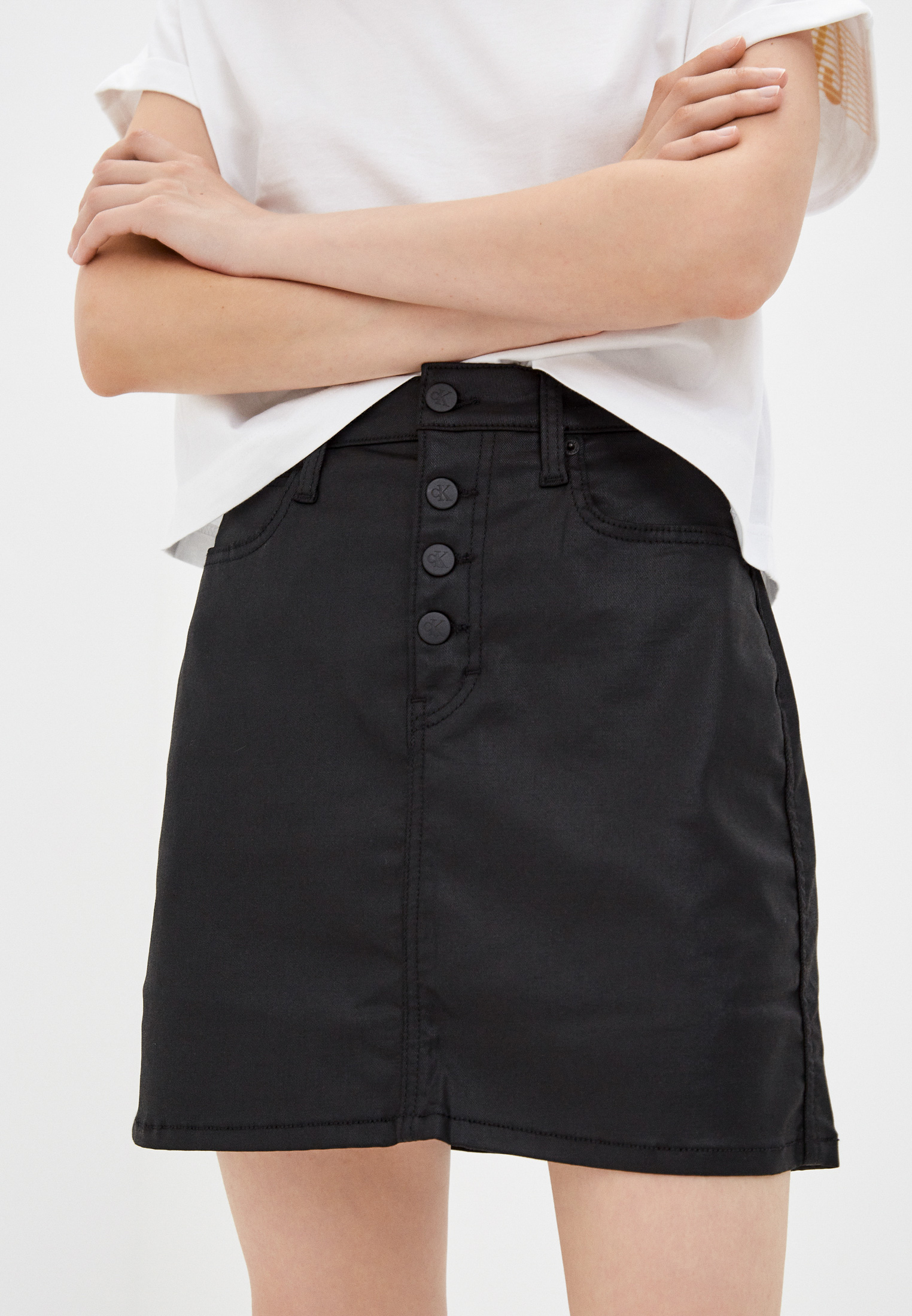 Джинсовая юбка Calvin Klein Jeans Юбка джинсовая Calvin Klein Jeans