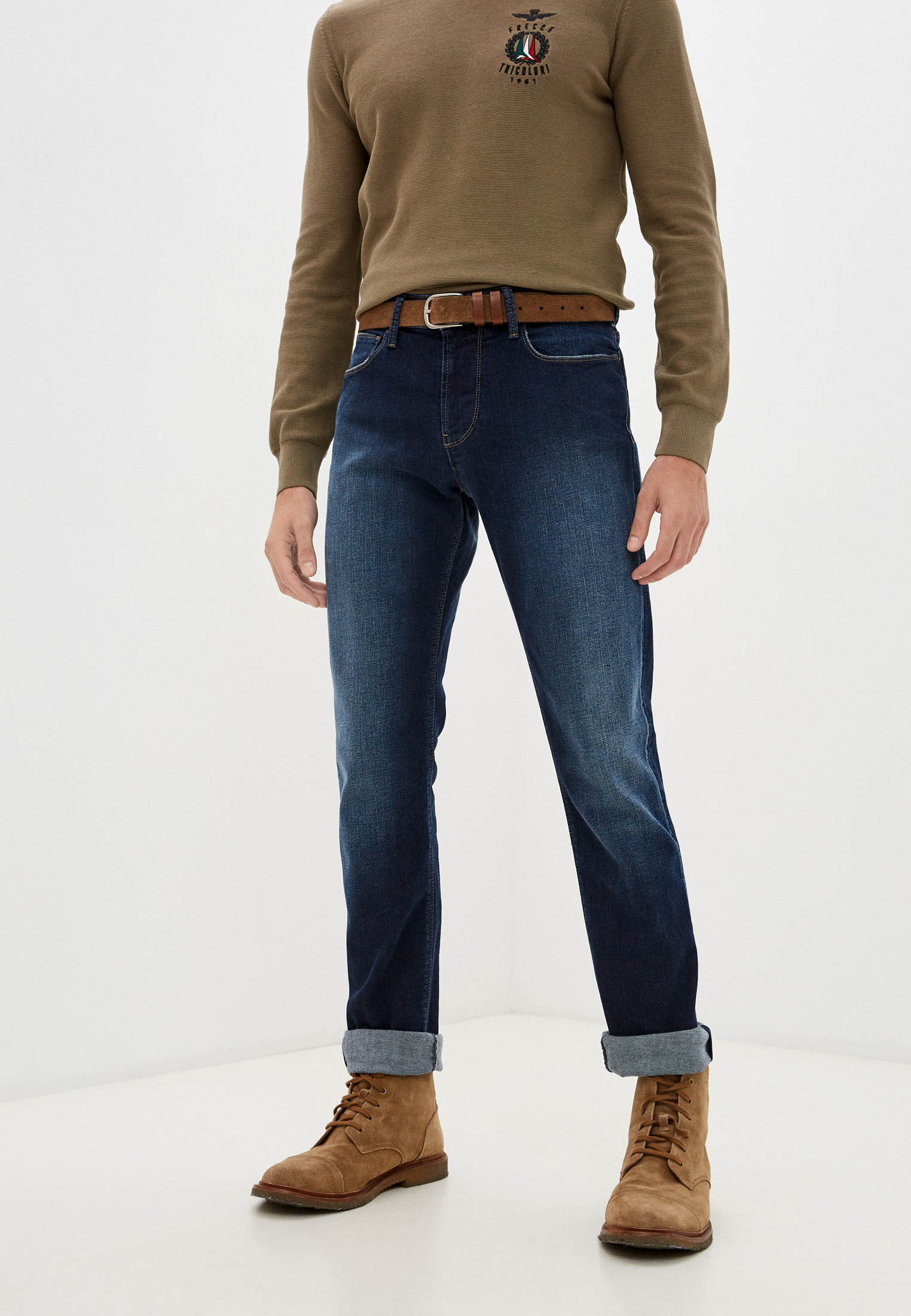 Мужские зауженные джинсы Emporio Armani (Эмпорио Армани) 6K1J06 1DQ0Z