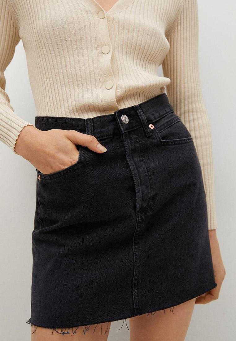 Прямая юбка Mango (Манго) Юбка джинсовая Mango