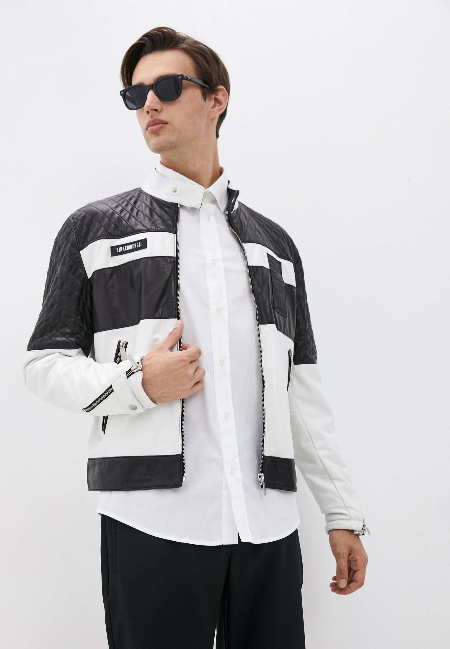 Кожаная куртка Bikkembergs (Биккембергс) C H 117 80 D 1180: изображение 1