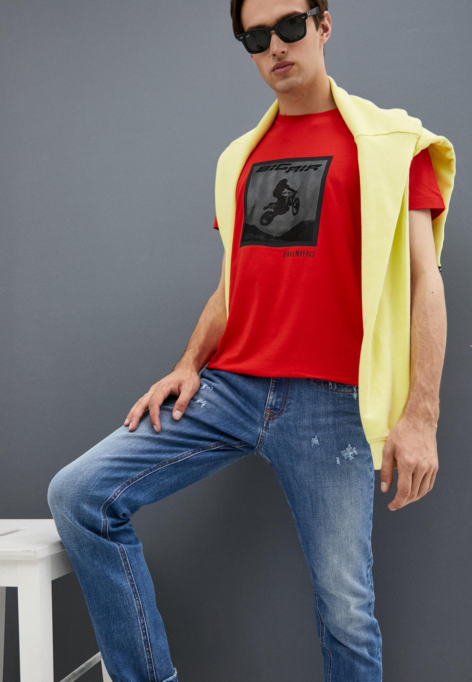 Мужские зауженные джинсы Bikkembergs (Биккембергс) C Q 101 03 S 3393: изображение 2