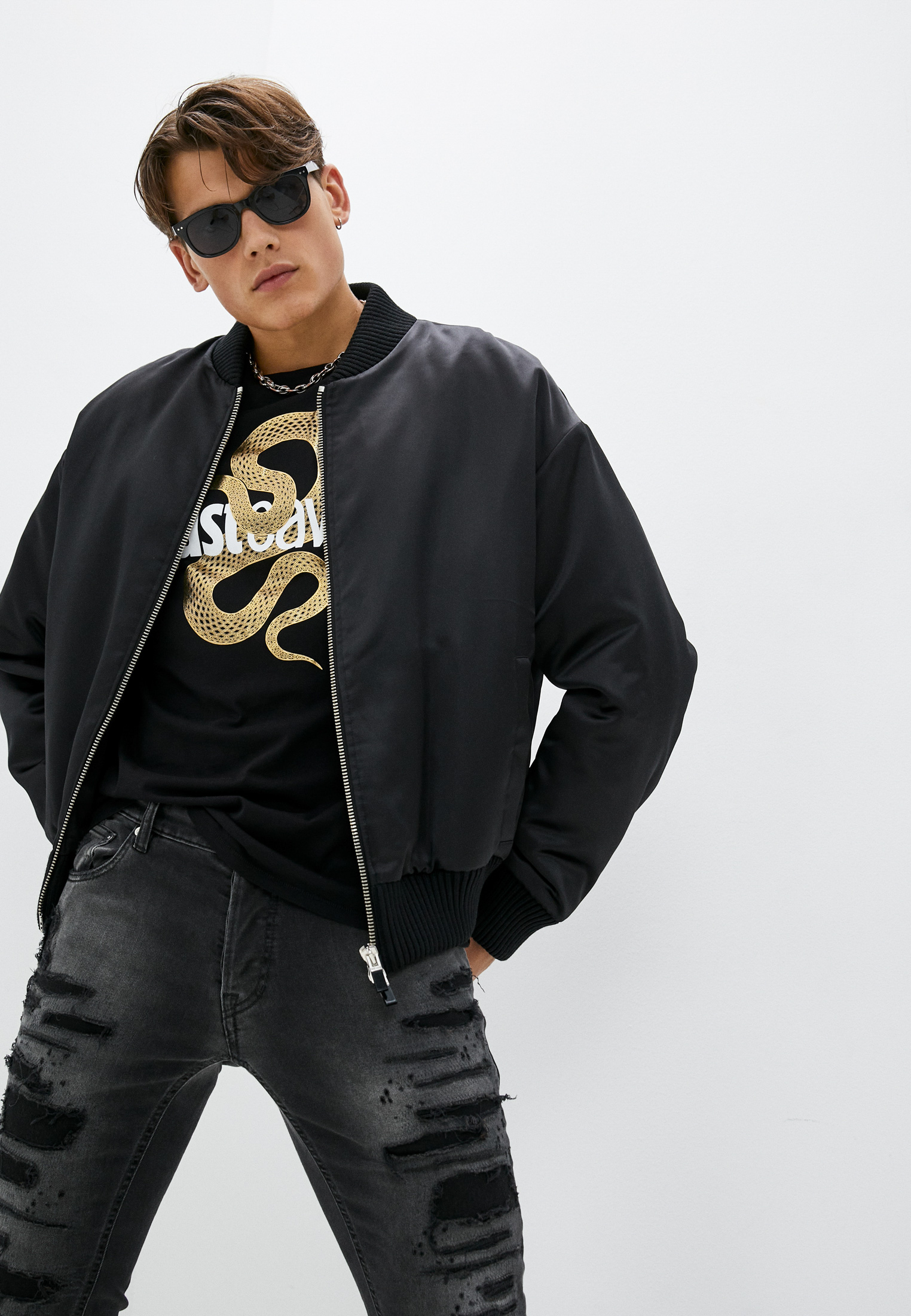 Мужская верхняя одежда Just Cavalli (Джаст Кавалли) Куртка утепленная Just Cavalli