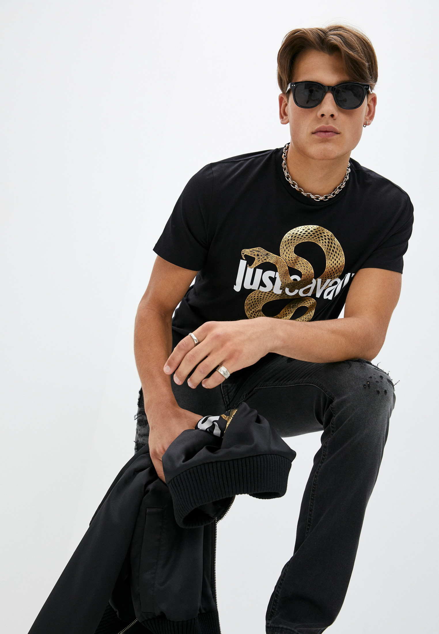 Мужская футболка Just Cavalli (Джаст Кавалли) S01GC0686N20663