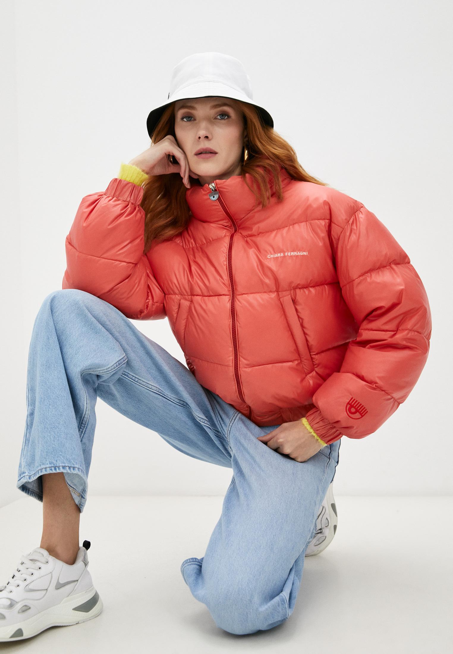 Утепленная куртка Chiara Ferragni Пуховик Chiara Ferragni