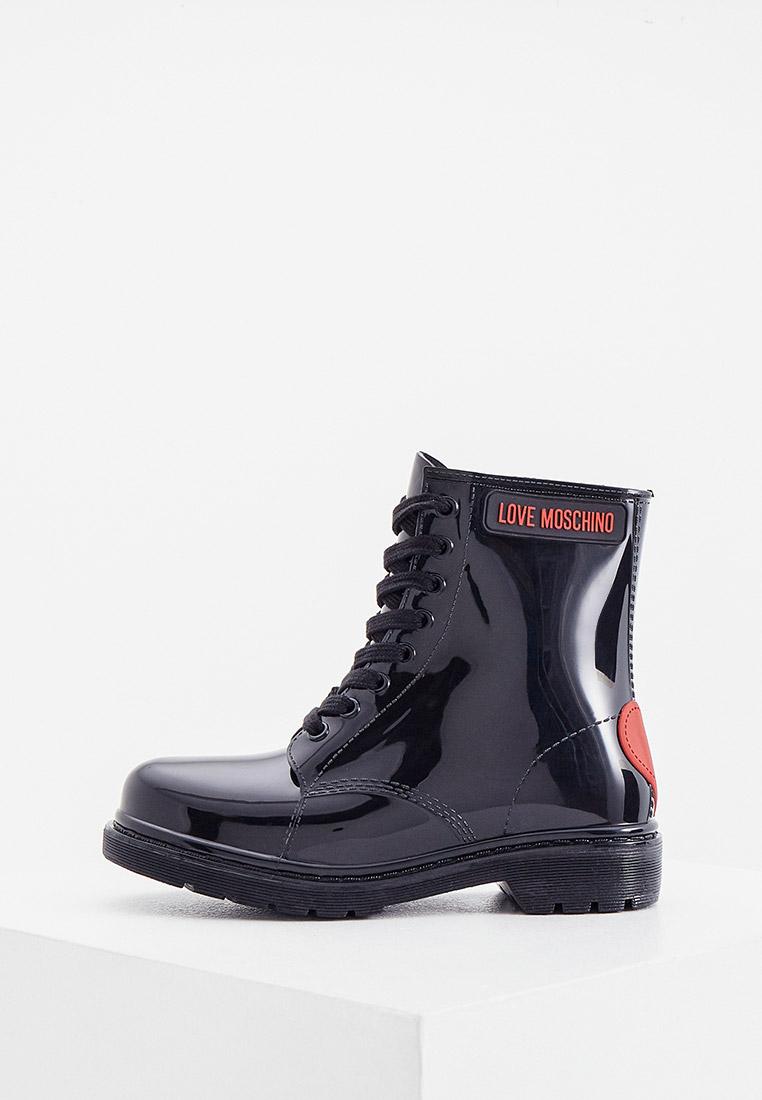 Женские резиновые полусапоги Love Moschino Резиновые ботинки Love Moschino