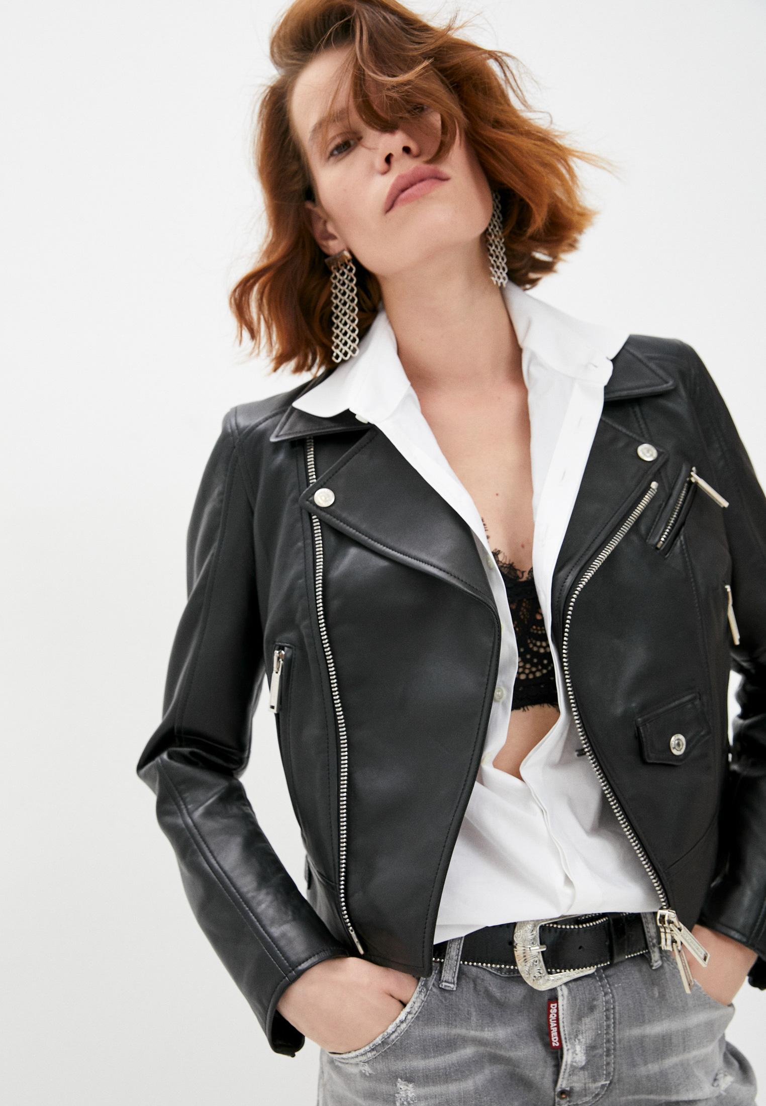 Кожаная куртка Dsquared2 S72AM0776