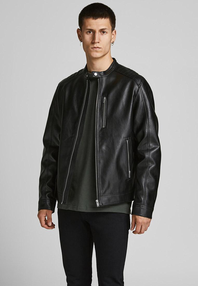 Кожаная куртка Jack & Jones (Джек Энд Джонс) Куртка кожаная Jack & Jones
