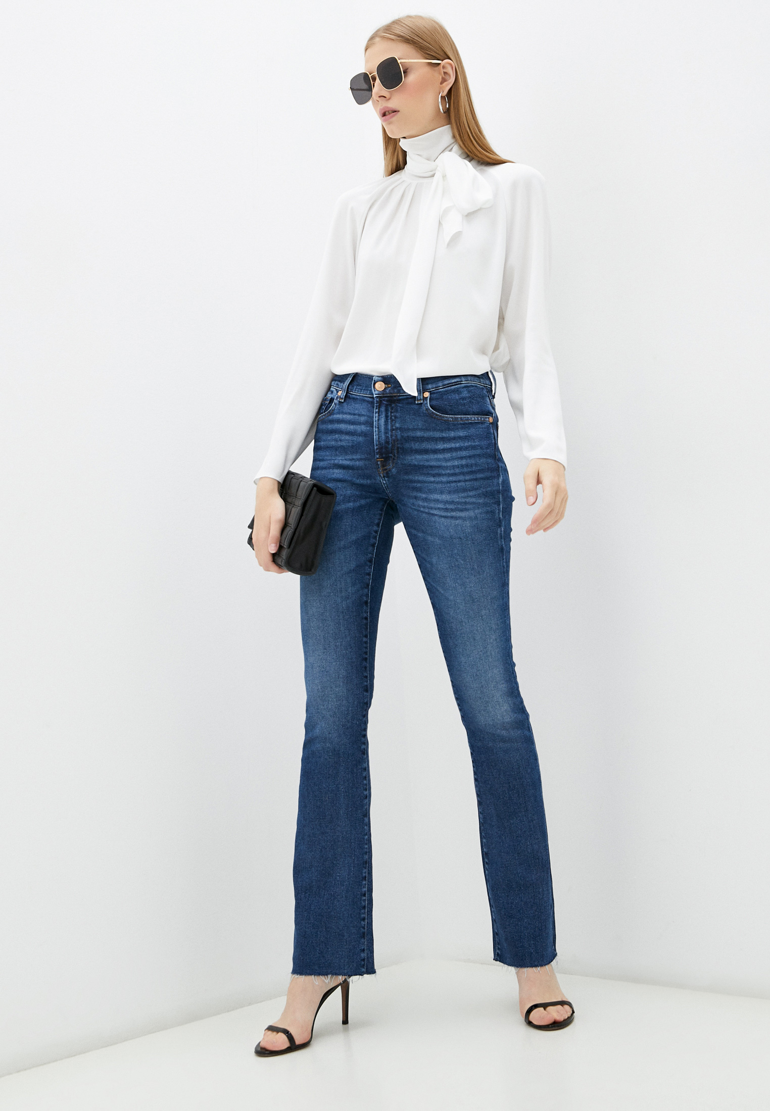 Широкие и расклешенные джинсы 7 For All Mankind (7 Фо Олл Мэнкайнд) JSWB1200RJ: изображение 3
