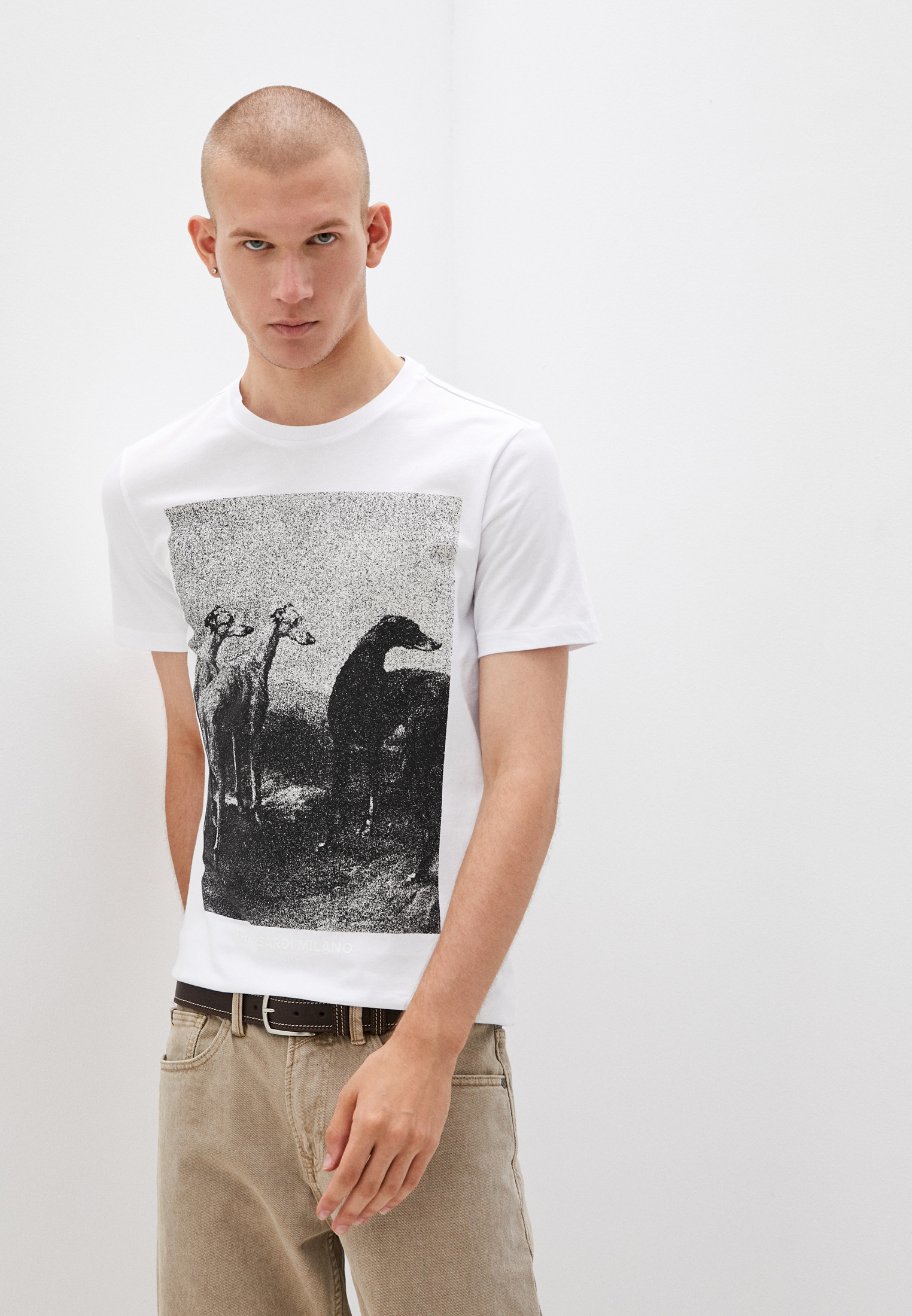 Мужская футболка Trussardi (Труссарди) 52T00532-1T005328