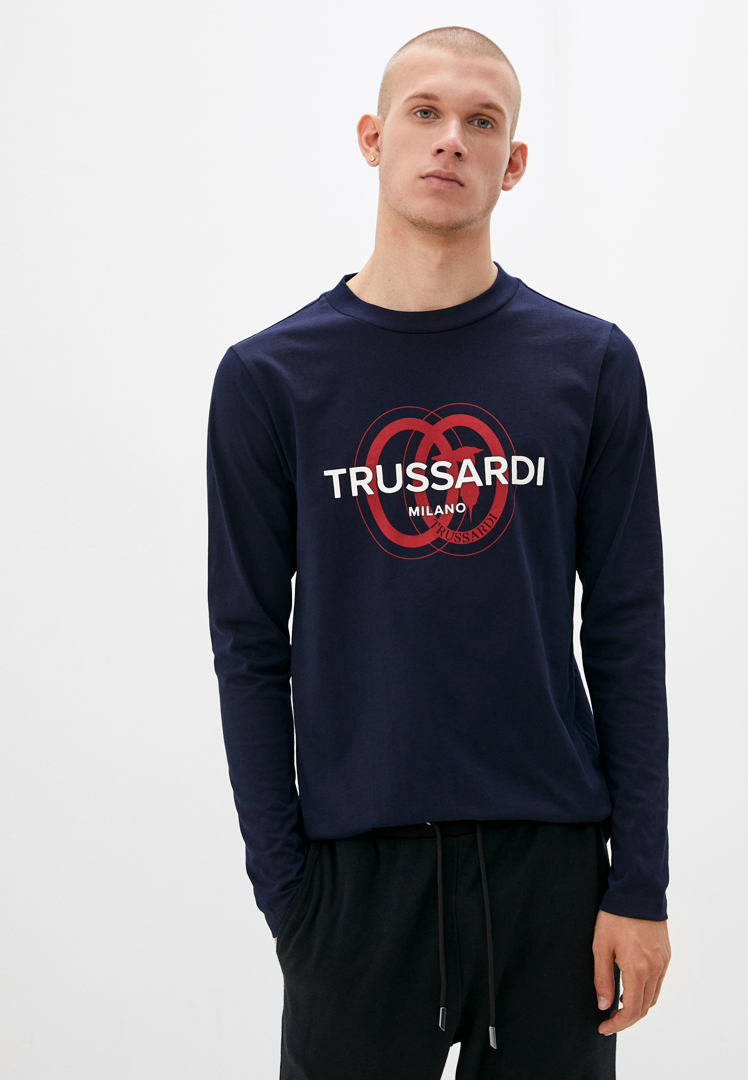 Футболка с длинным рукавом Trussardi (Труссарди) 52T00540-1T005461