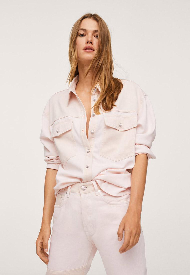 Женские рубашки с длинным рукавом Mango (Манго) Рубашка с контрастными карманами - Marble