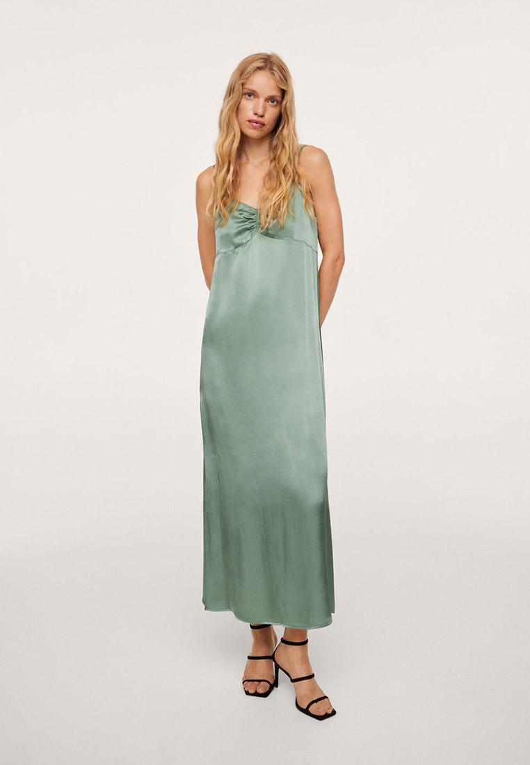 Платье Mango (Манго) Атласное миди-платье - Eslipi
