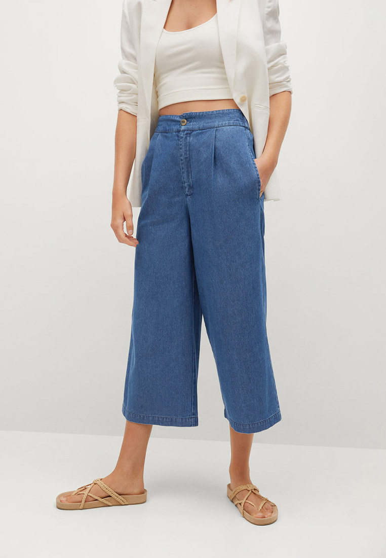 Широкие и расклешенные джинсы Mango (Манго) 17054037