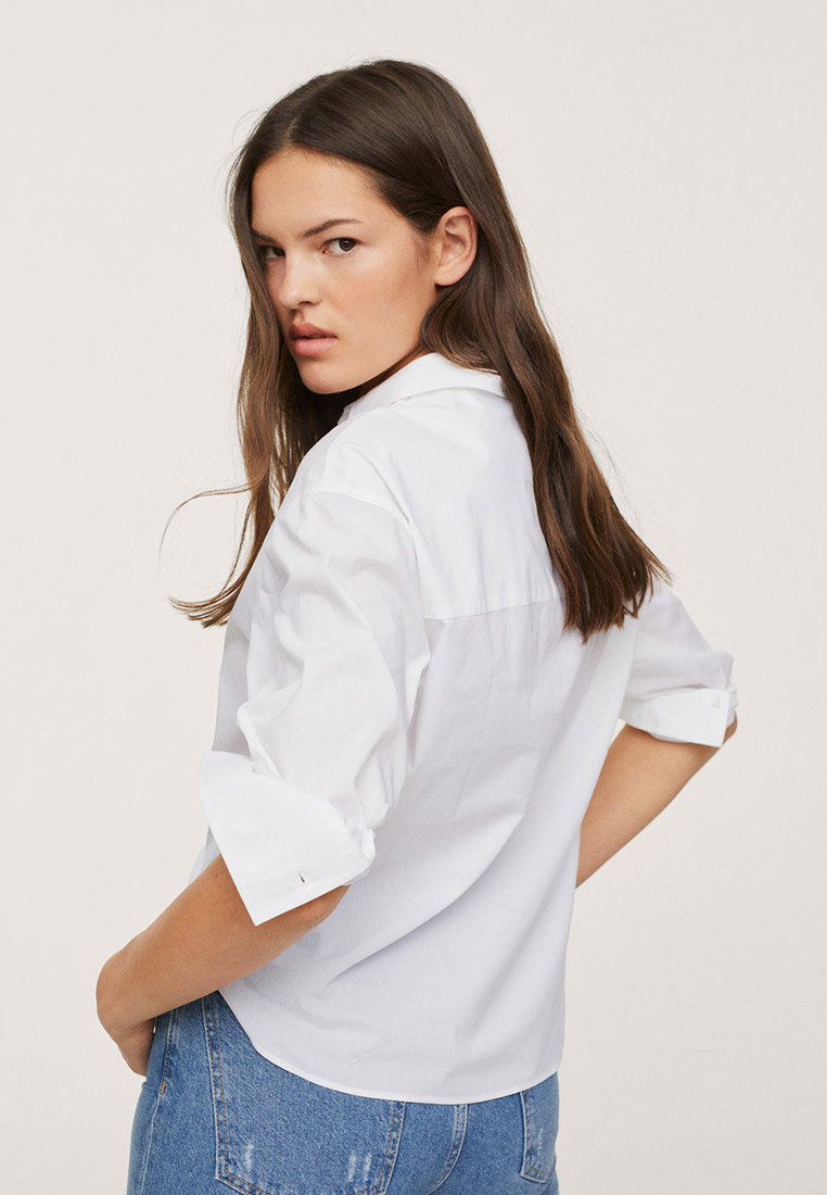 Женские рубашки с длинным рукавом Mango (Манго) 17034047: изображение 3