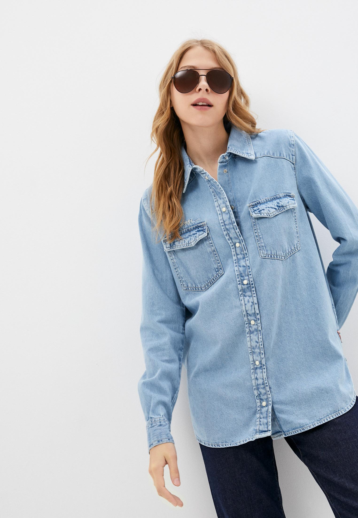 Рубашка Guess Jeans Рубашка джинсовая Guess Jeans