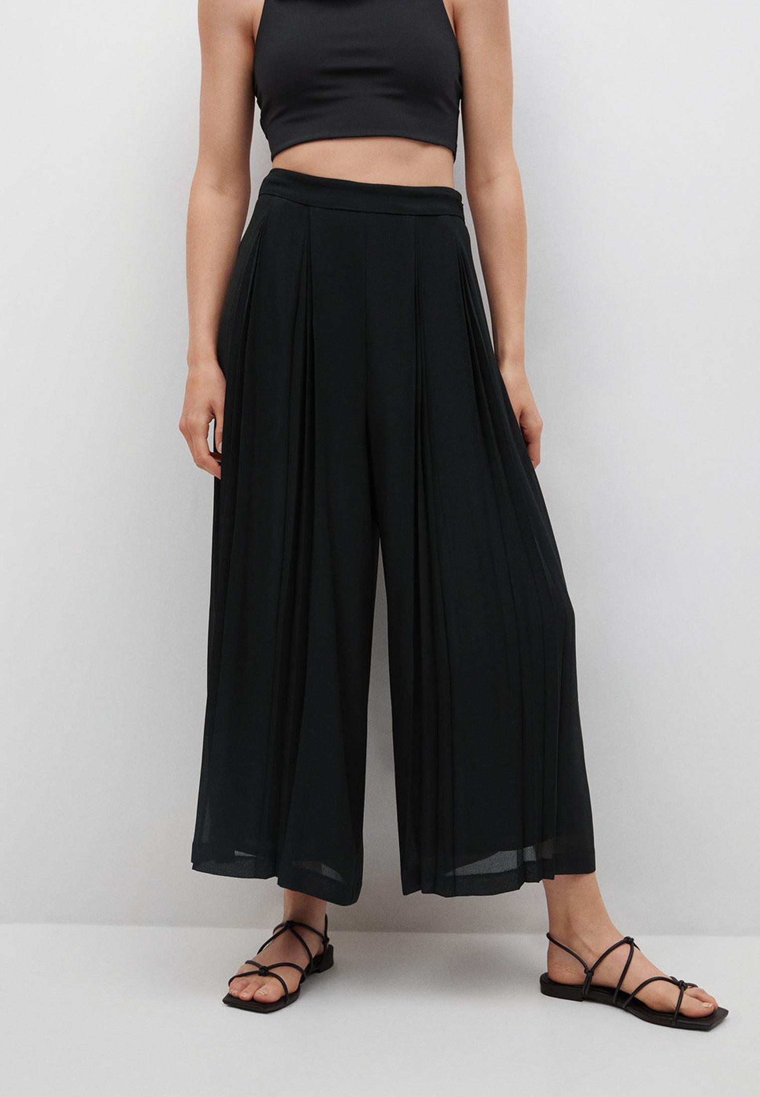 Женские широкие и расклешенные брюки Mango (Манго) 17072019: изображение 1