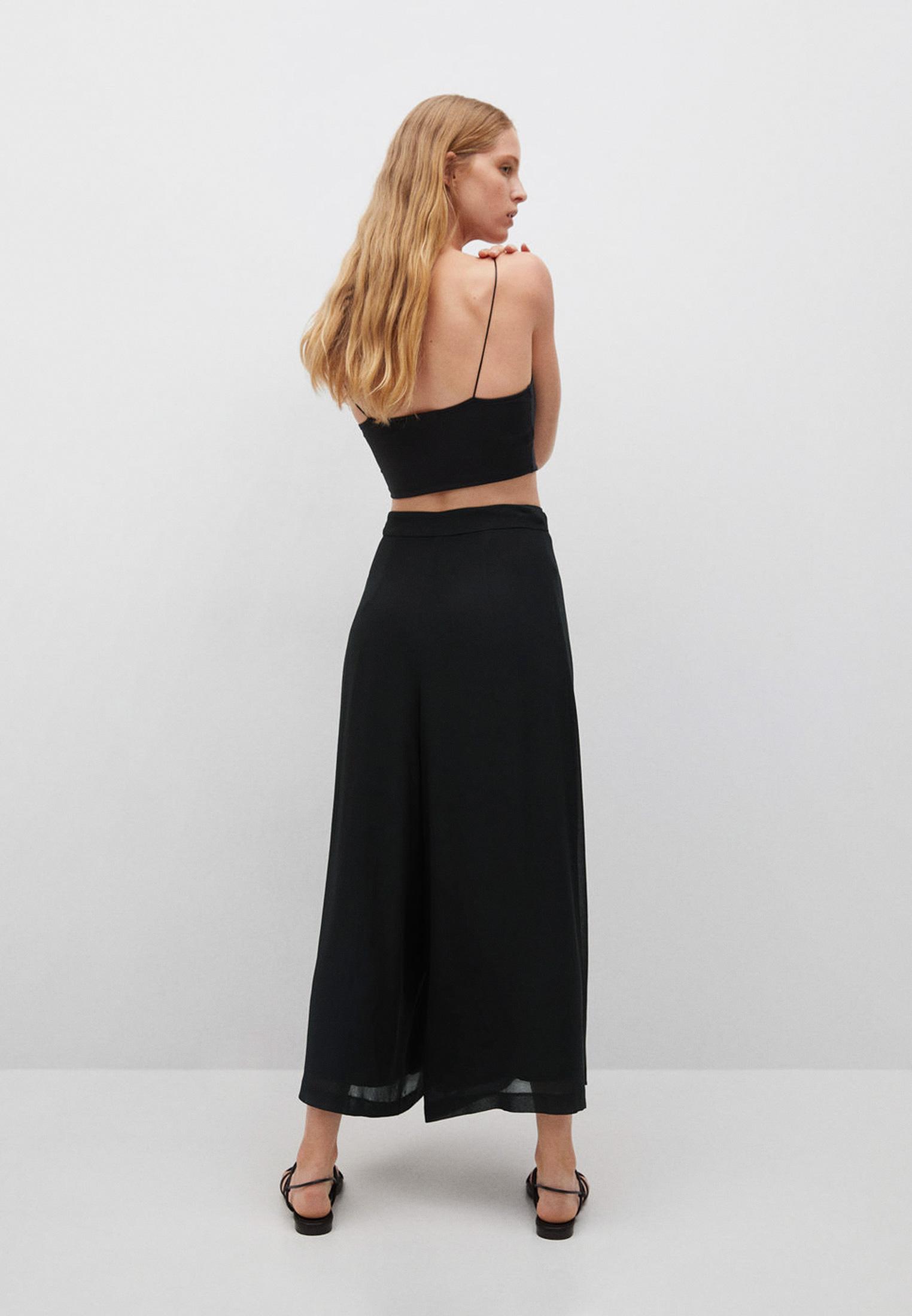 Женские широкие и расклешенные брюки Mango (Манго) 17072019: изображение 3