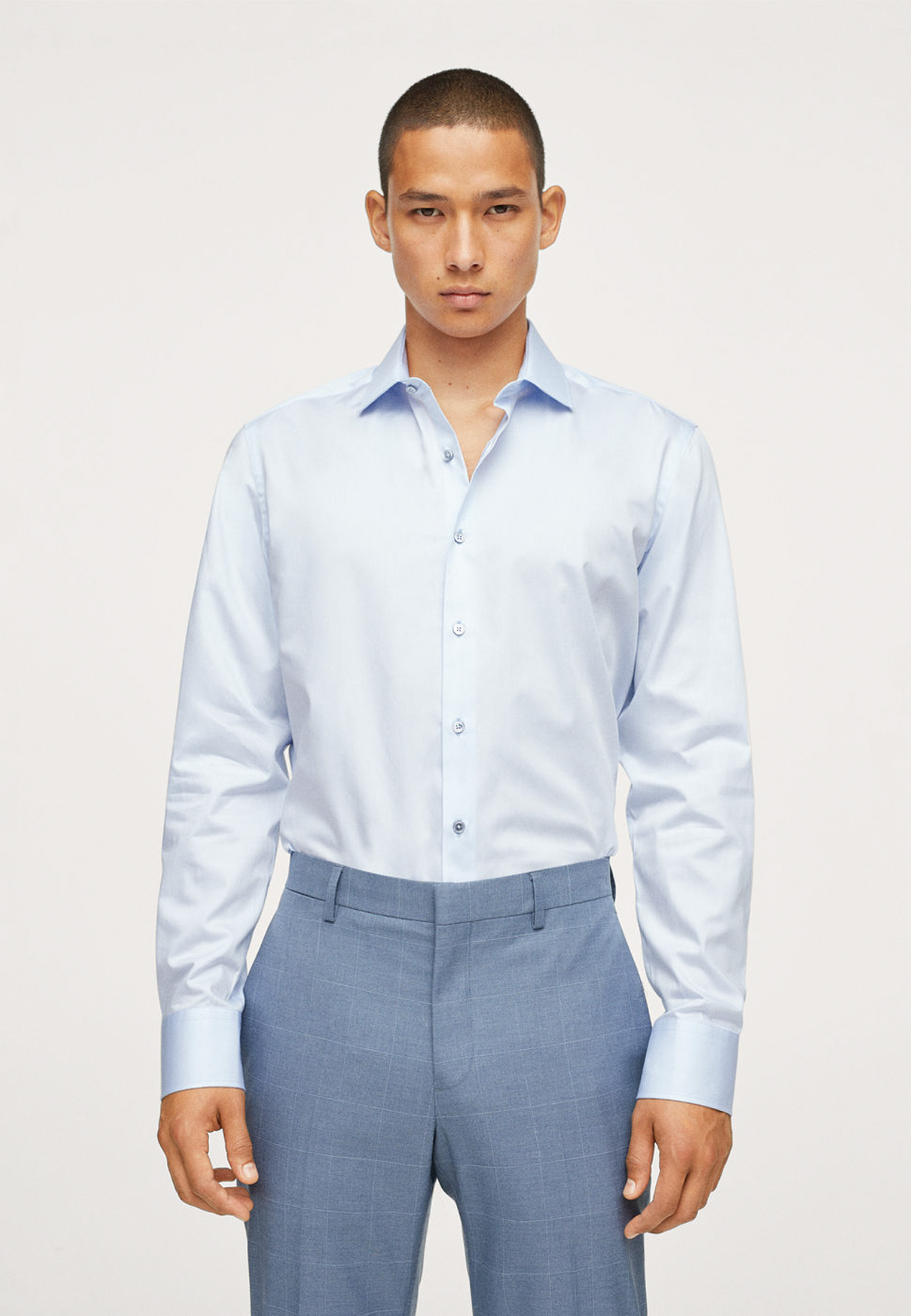 Рубашка с длинным рукавом Mango Man 17064015