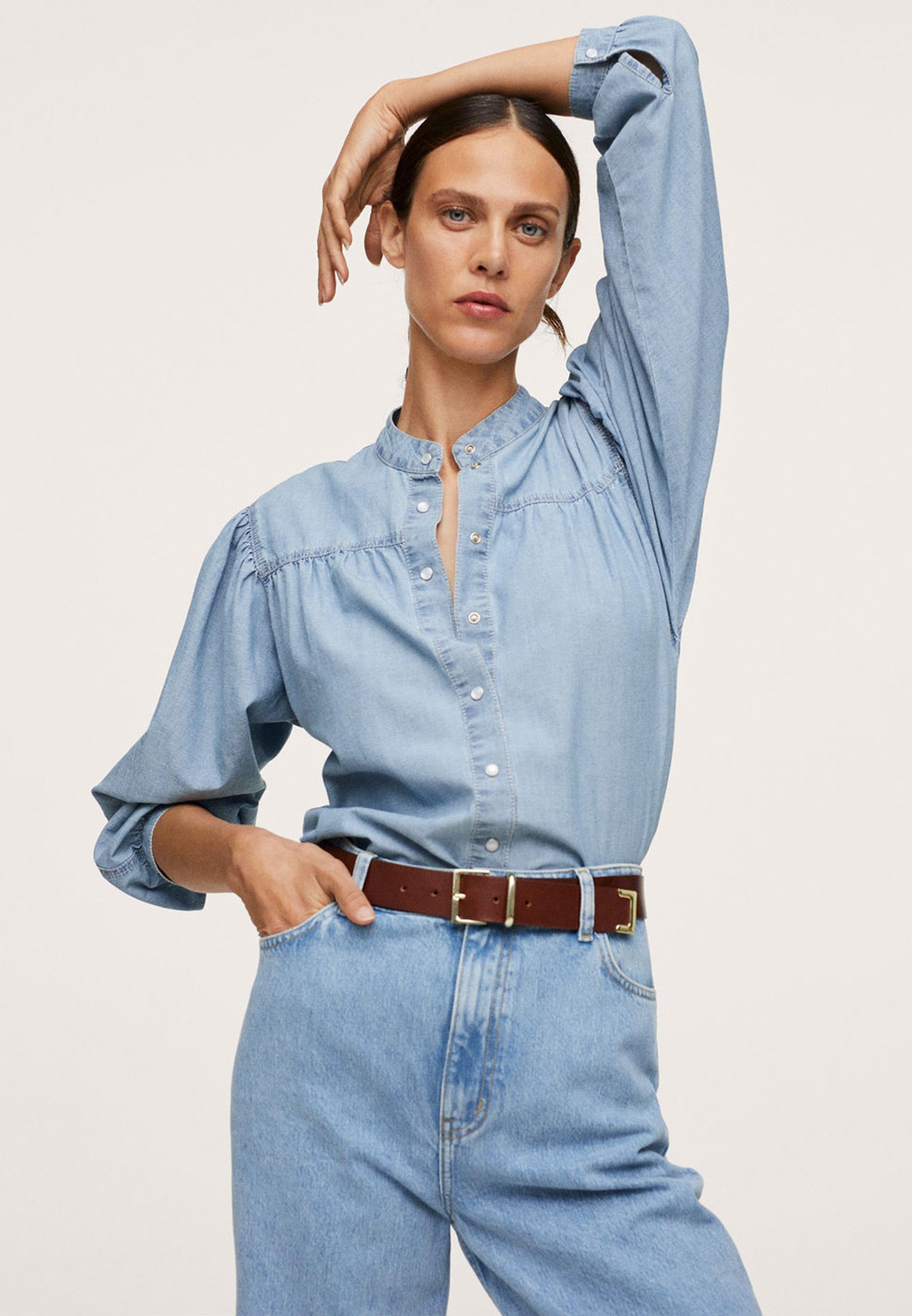 Женские джинсовые рубашки Mango (Манго) Рубашка джинсовая Mango