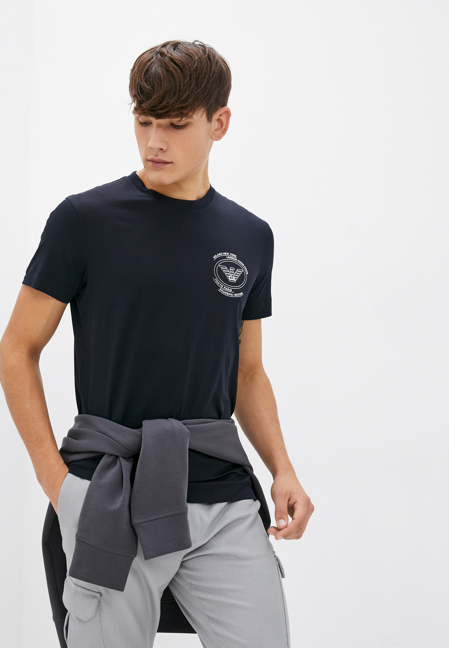 Мужская футболка Emporio Armani (Эмпорио Армани) 6K1T88 1JPZZ