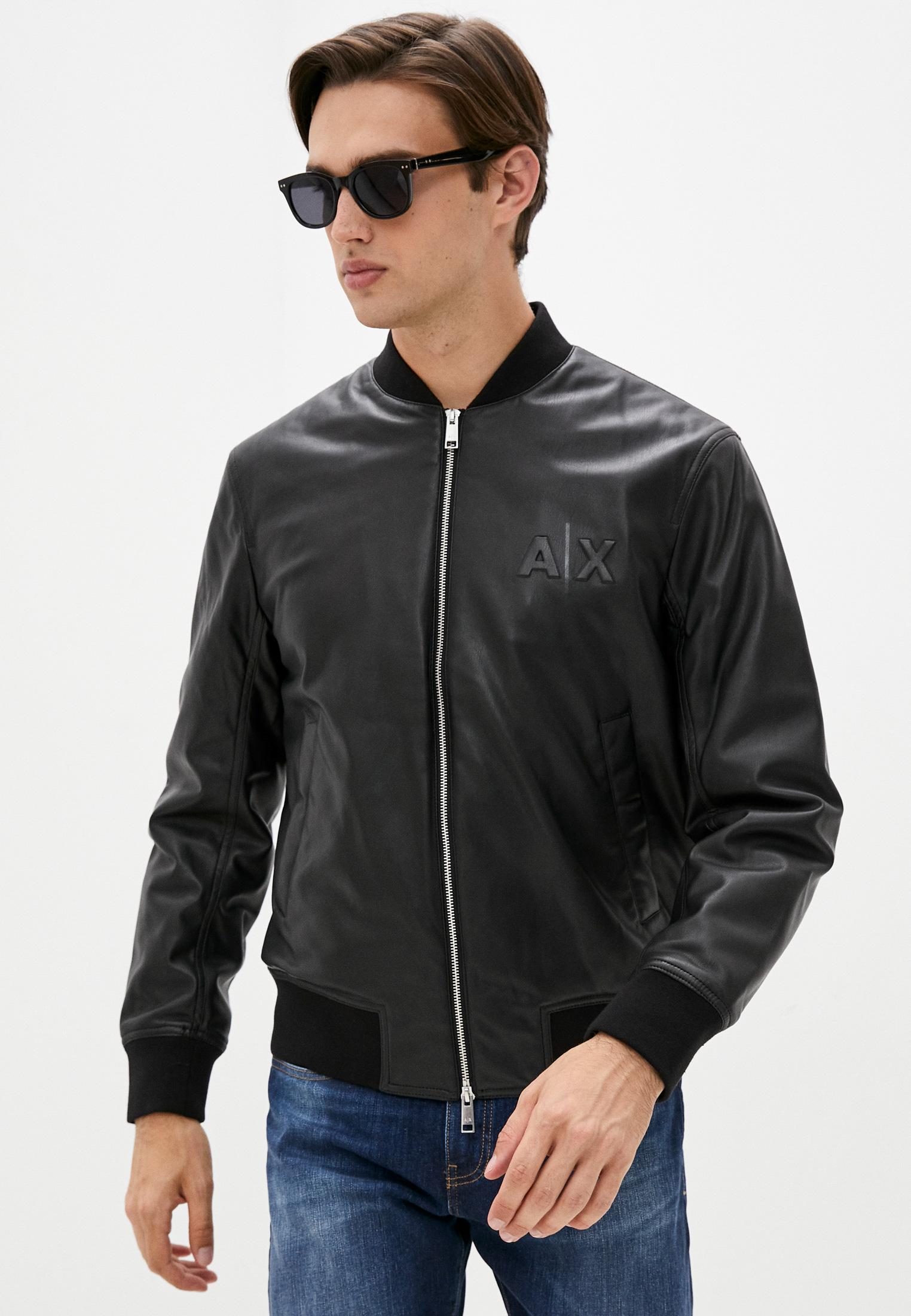 Кожаная куртка Armani Exchange Куртка кожаная Armani Exchange