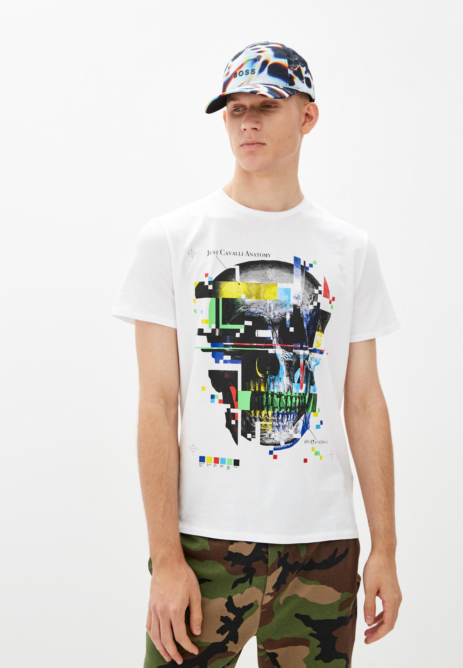 Мужская футболка Just Cavalli (Джаст Кавалли) S03GC0633N20663