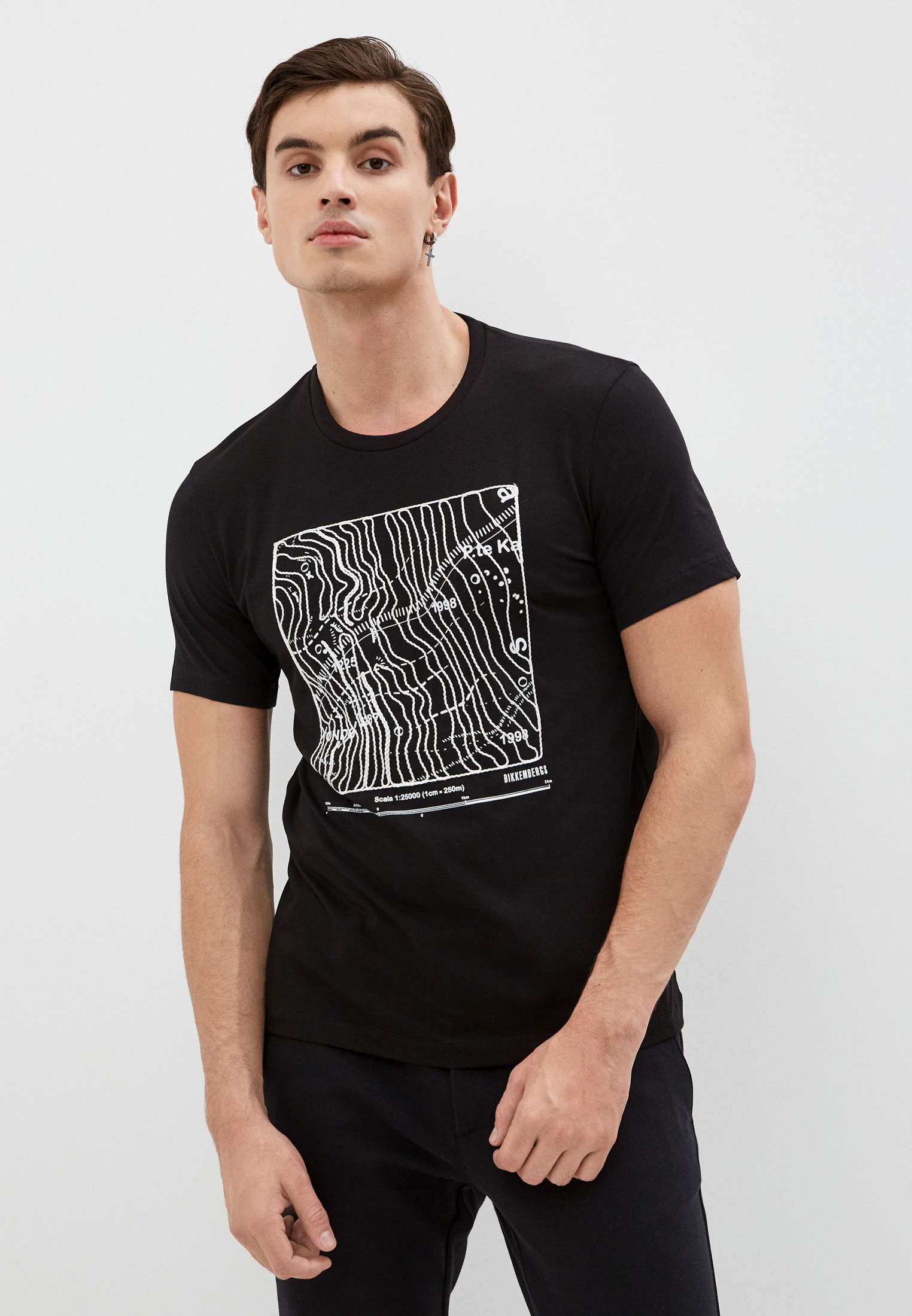 Мужская футболка Bikkembergs (Биккембергс) C 7 001 3G E 2087