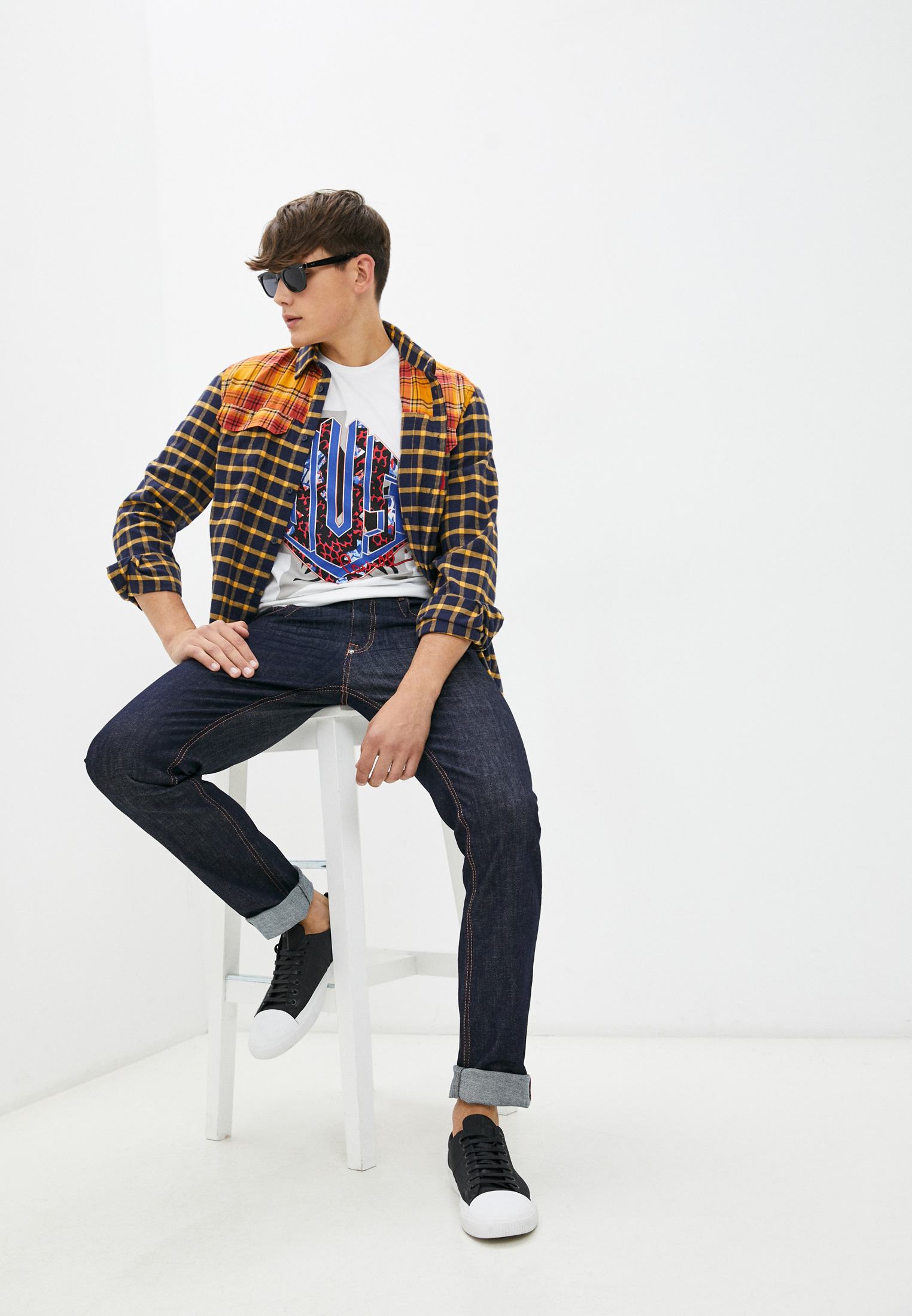 Мужские прямые джинсы Bikkembergs (Биккембергс) C Q 102 03 S 3393: изображение 8