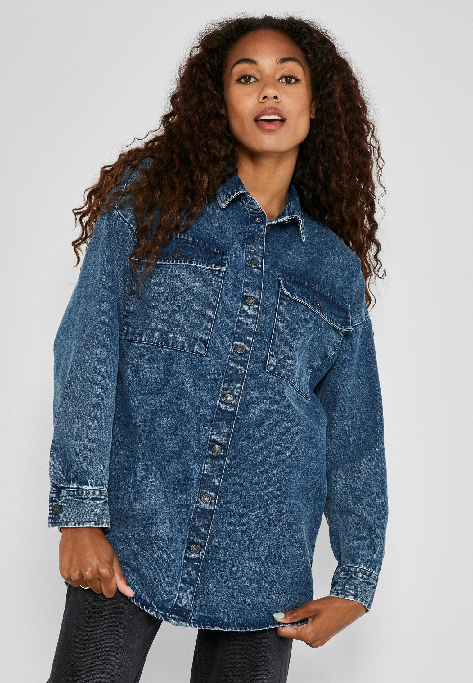 Женские джинсовые рубашки Noisy May Рубашка джинсовая Noisy May