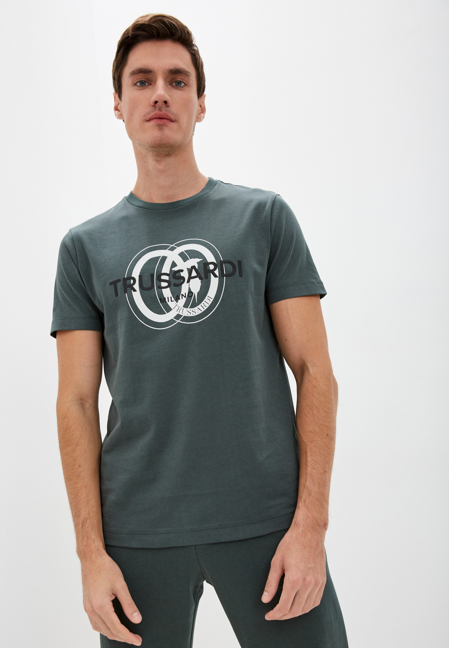 Мужская футболка Trussardi (Труссарди) 52T00514-1T005461