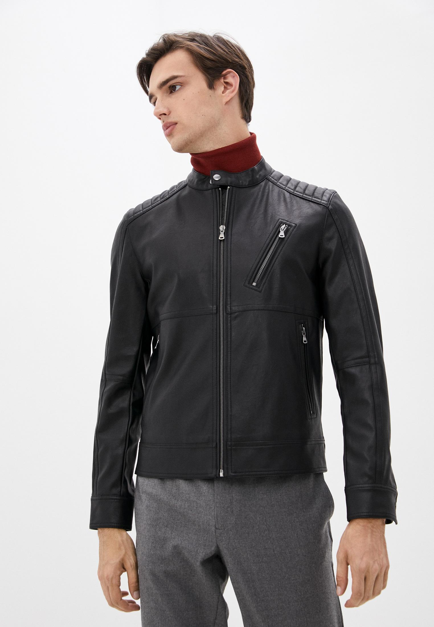 Кожаная куртка Sisley (Сислей) Куртка кожаная Sisley