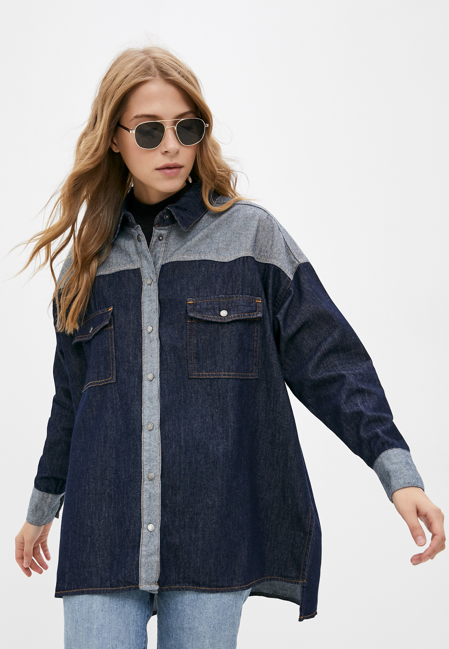 Женские джинсовые рубашки Silvian Heach Рубашка джинсовая Silvian Heach