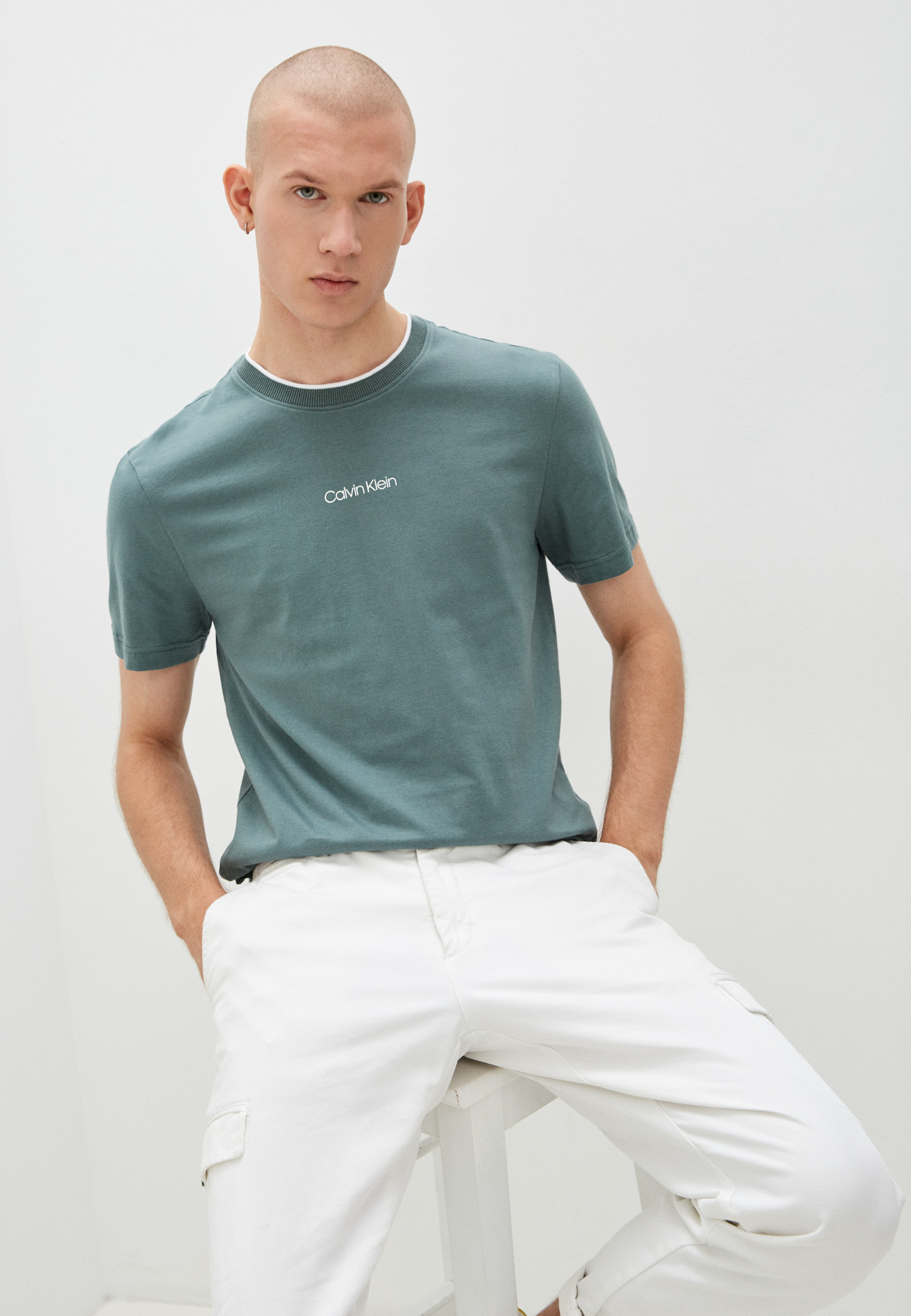 Мужская футболка Calvin Klein (Кельвин Кляйн) K10K107845