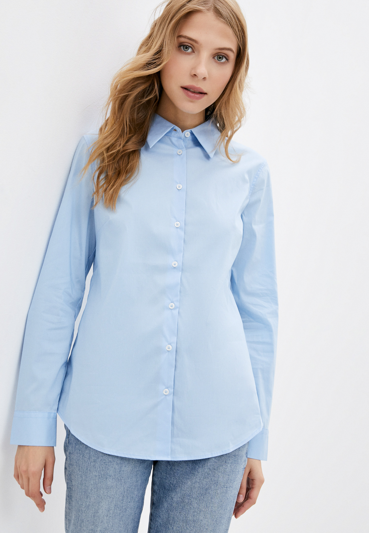 Женские рубашки с длинным рукавом United Colors of Benetton (Юнайтед Колорс оф Бенеттон) Рубашка United Colors of Benetton