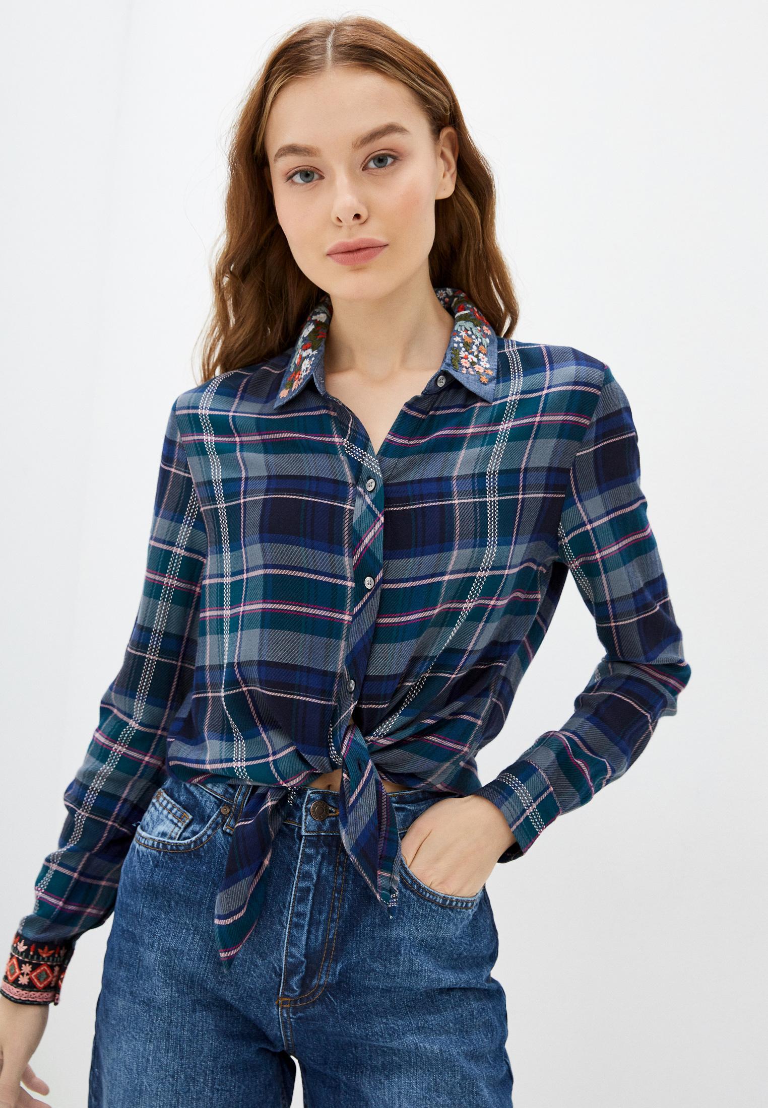 Женские рубашки с длинным рукавом Desigual (Дезигуаль) Рубашка Desigual