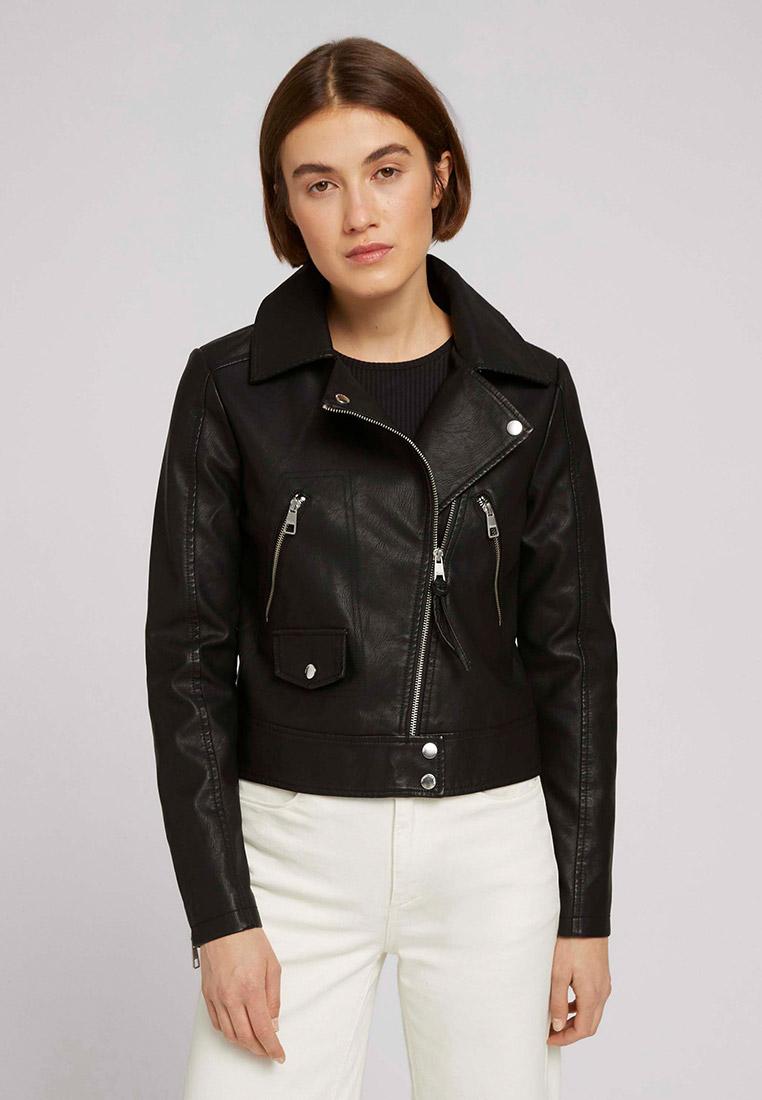 Кожаная куртка Tom Tailor Denim Куртка кожаная Tom Tailor Denim