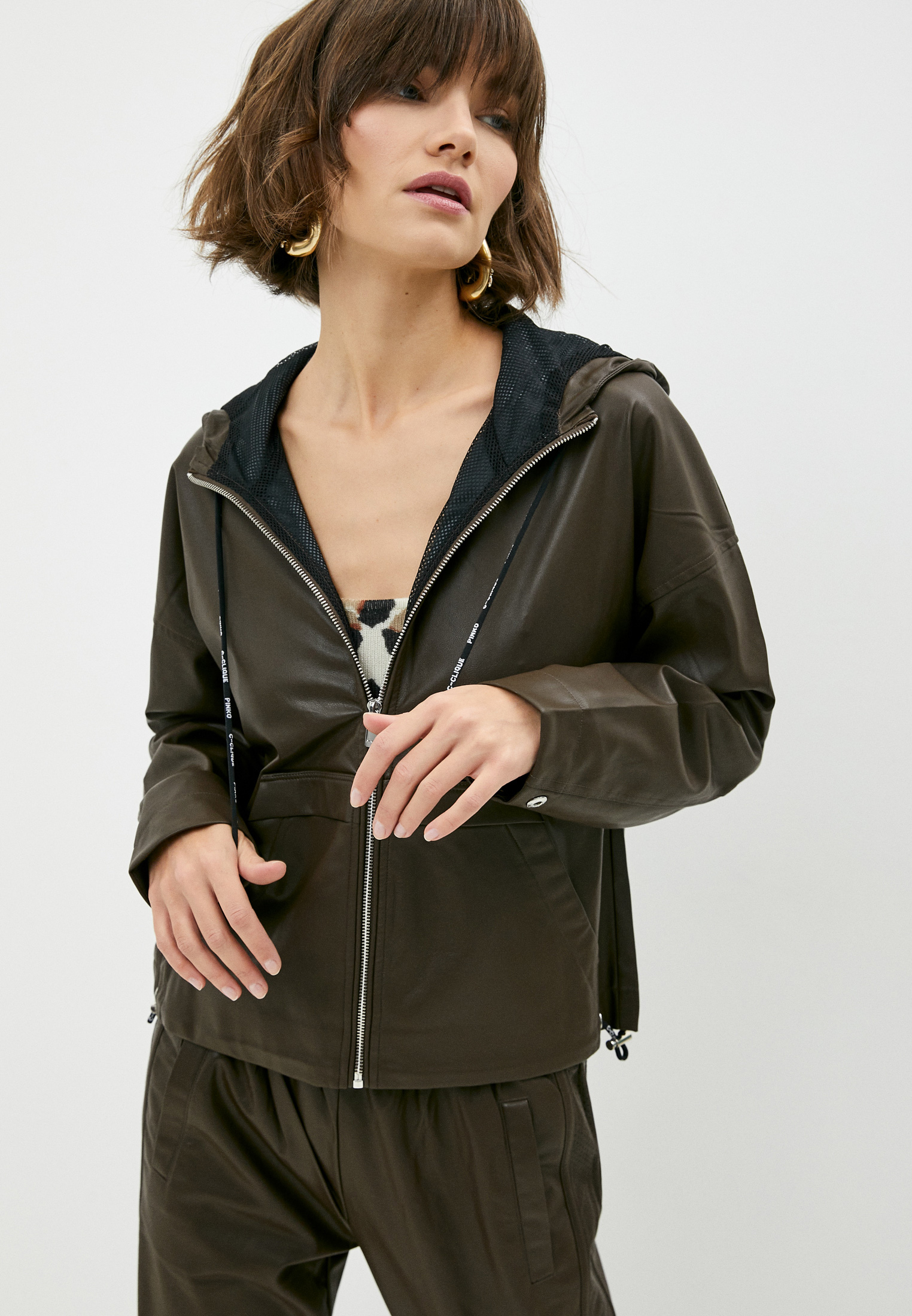 Кожаная куртка Pinko (Пинко) Куртка кожаная Pinko